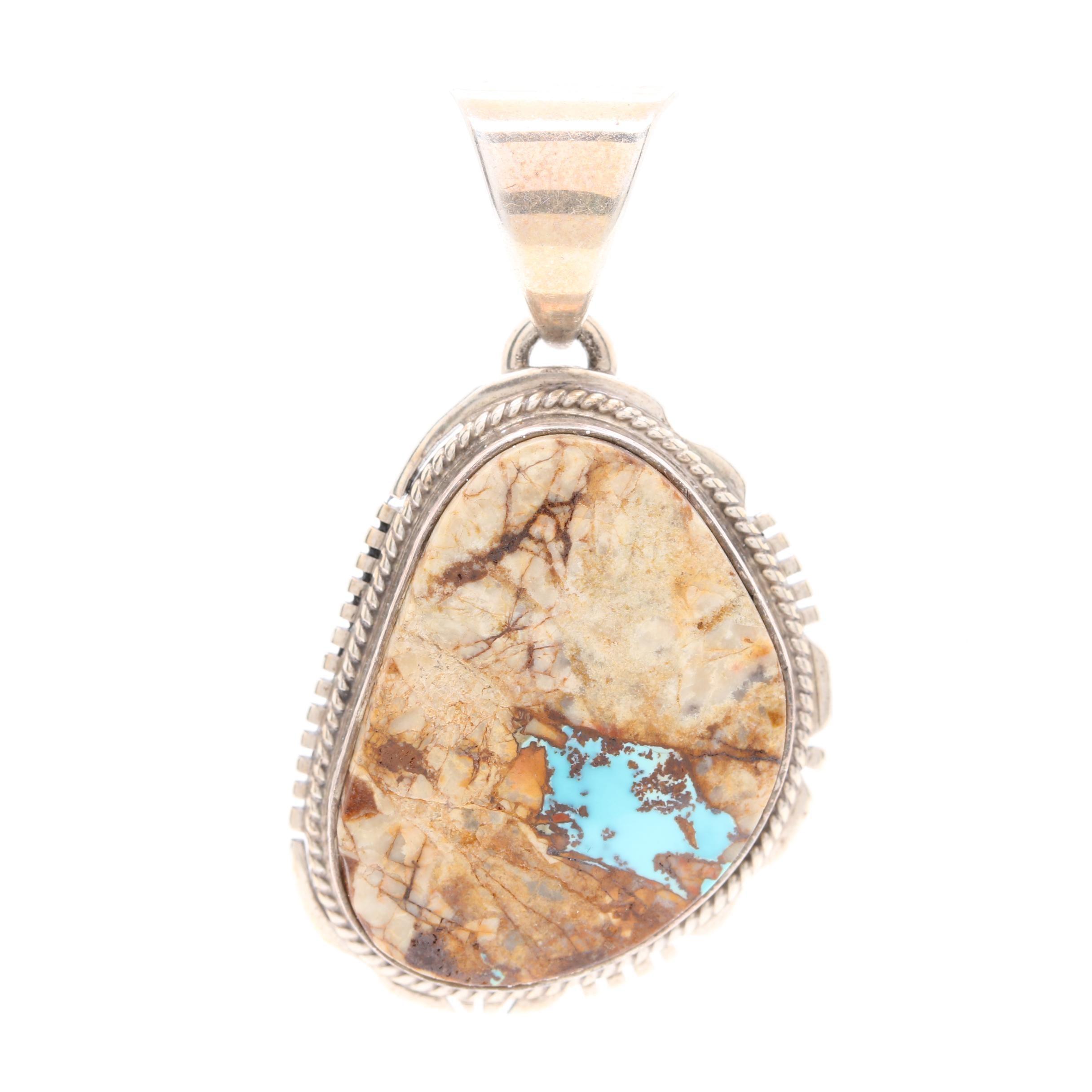 Linnie Linken Navajo Dinè Sterling Silver Turquoise Pendant