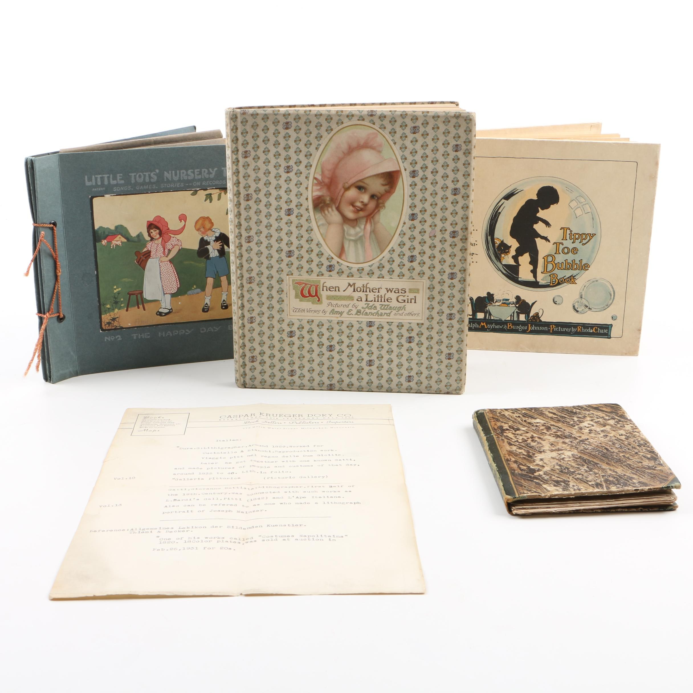 Three Early 20th Century Children's Books and Records