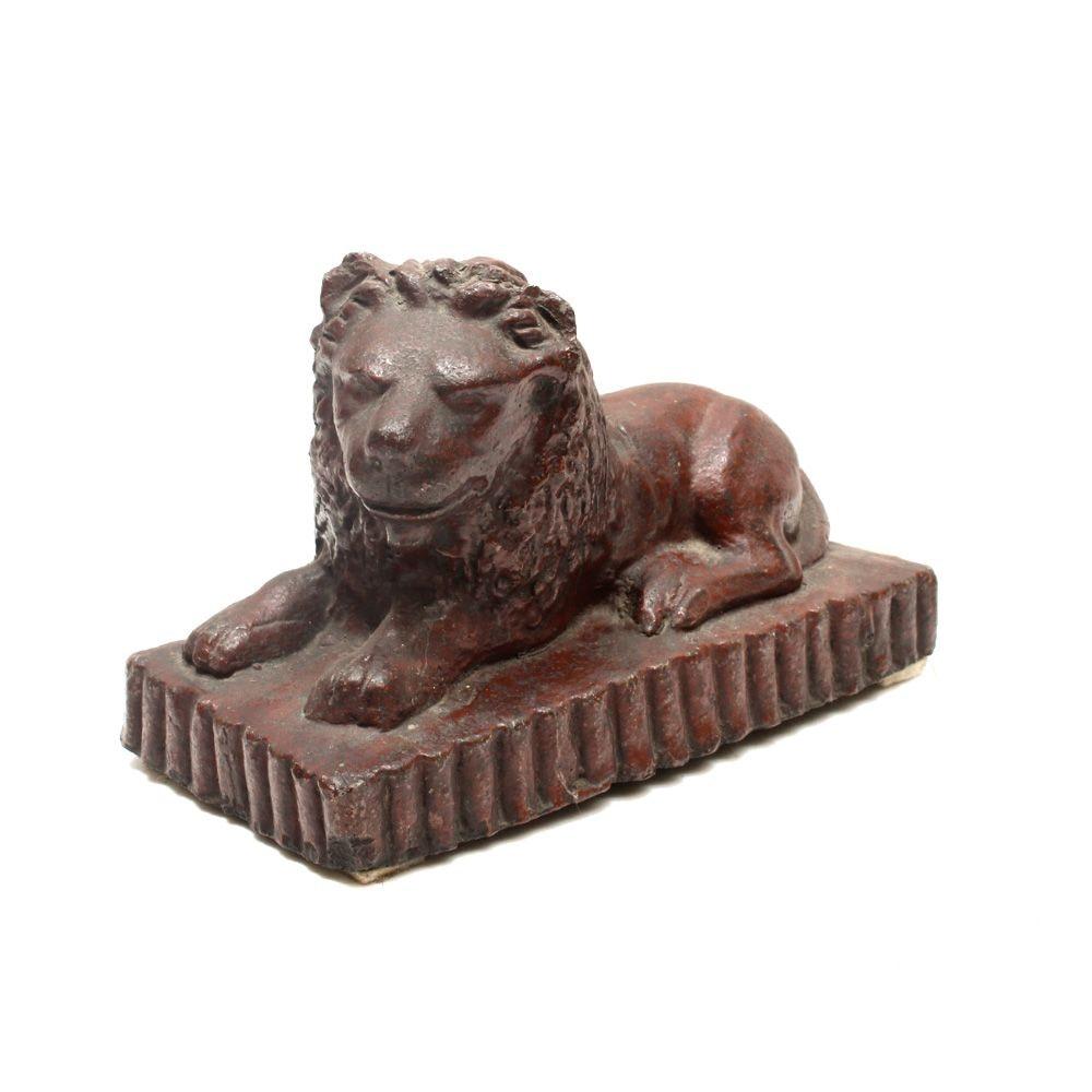 Sewer Tile Lion Figure
