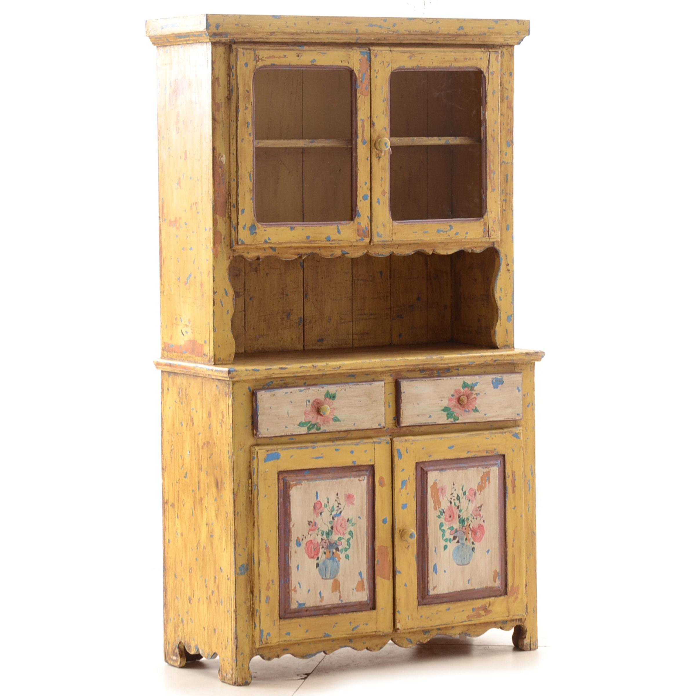 Vintage Rustic Kitchen Cabinet
