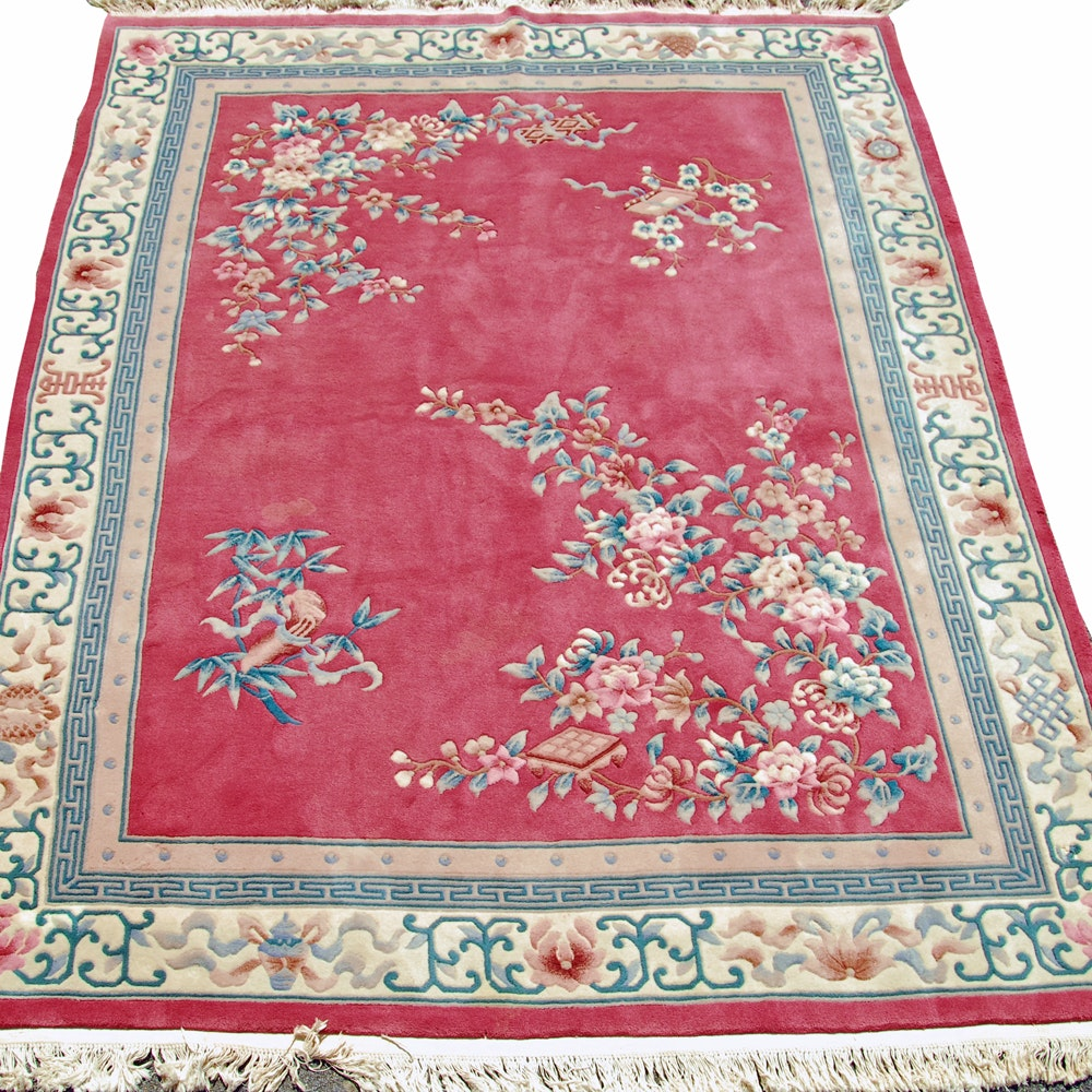Hand-Knotted Chinese Carved Area Rug from Empire Collection
