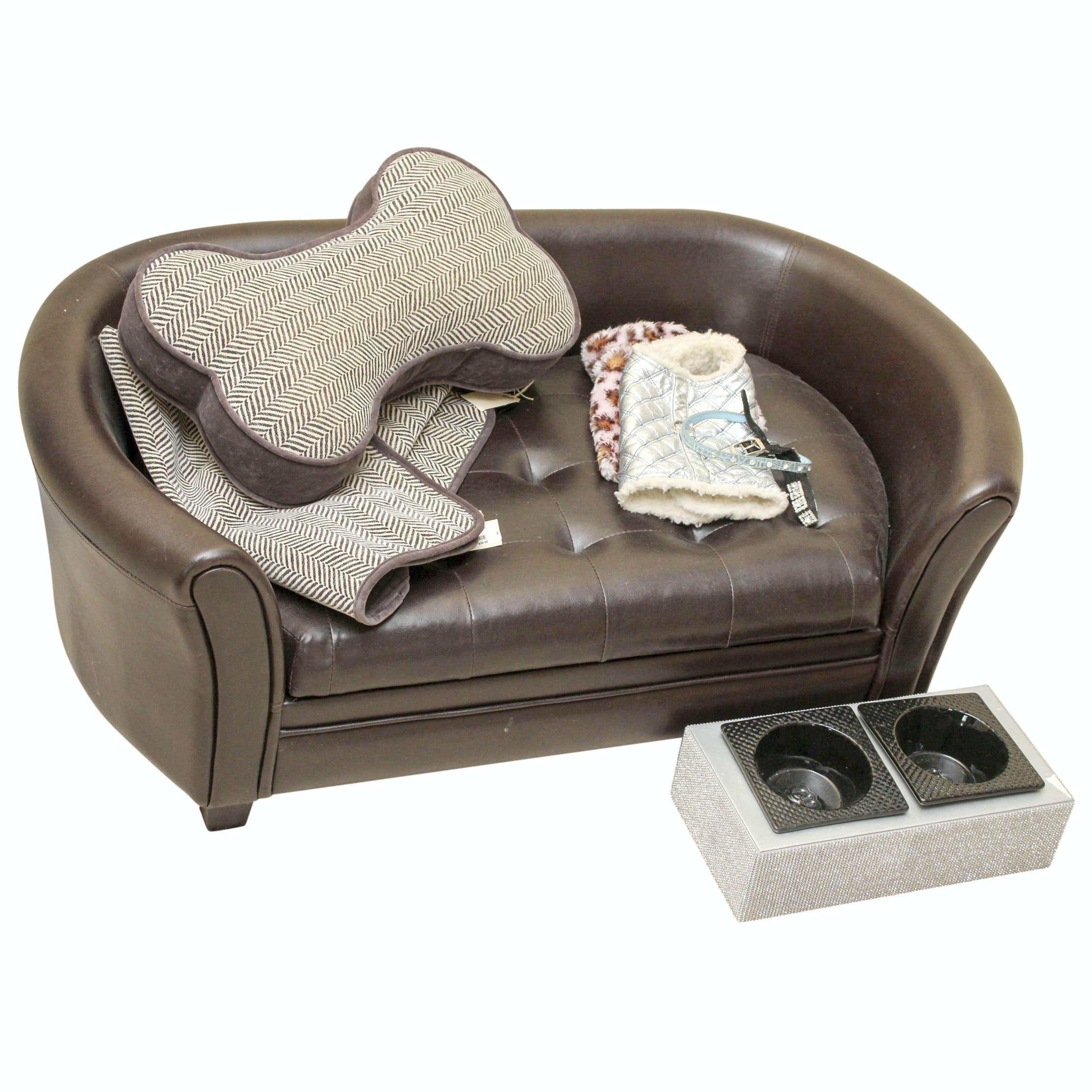Faux Leather Pet Sofa And Posh Pet Accessories ...