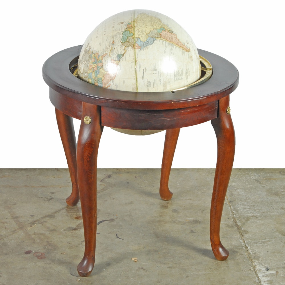 Vintage George F. Cram Company Classic Globe Table