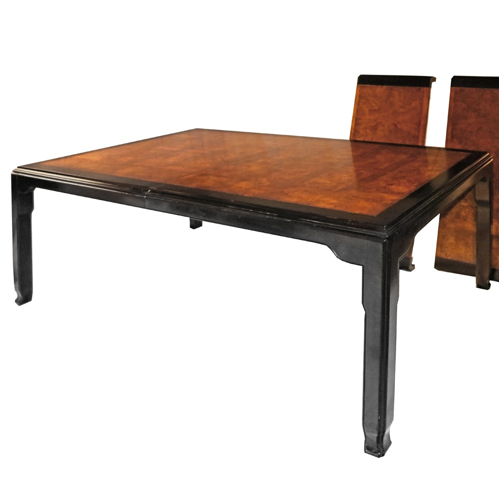 Asian Style Burl Wood Dining Table
