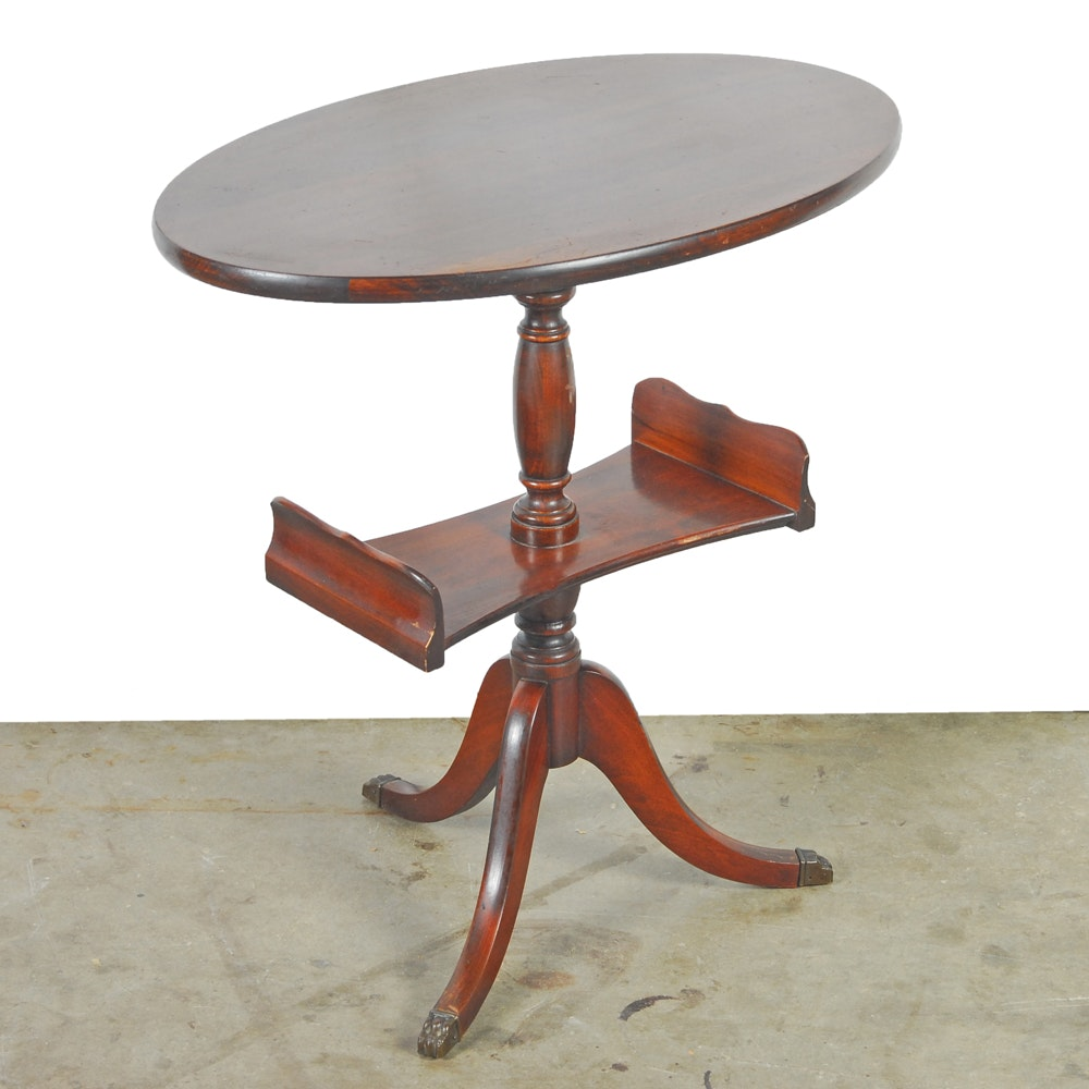 Vintage Federal Style Mahogany Accent Table by Brandt
