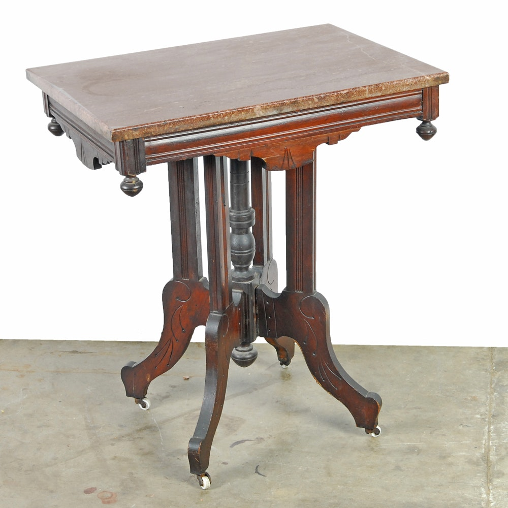 Antique Eastlake Mahogany Accent Table