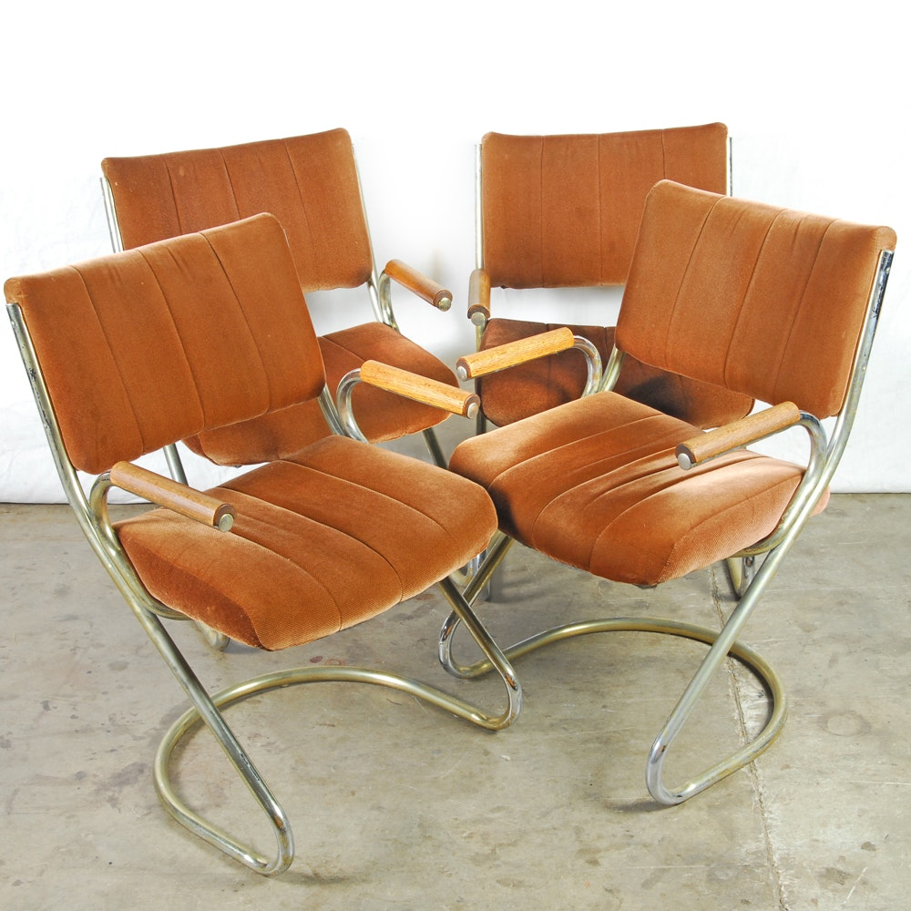 Mid Century Modern Cantilever Armchairs by Douglas Furniture