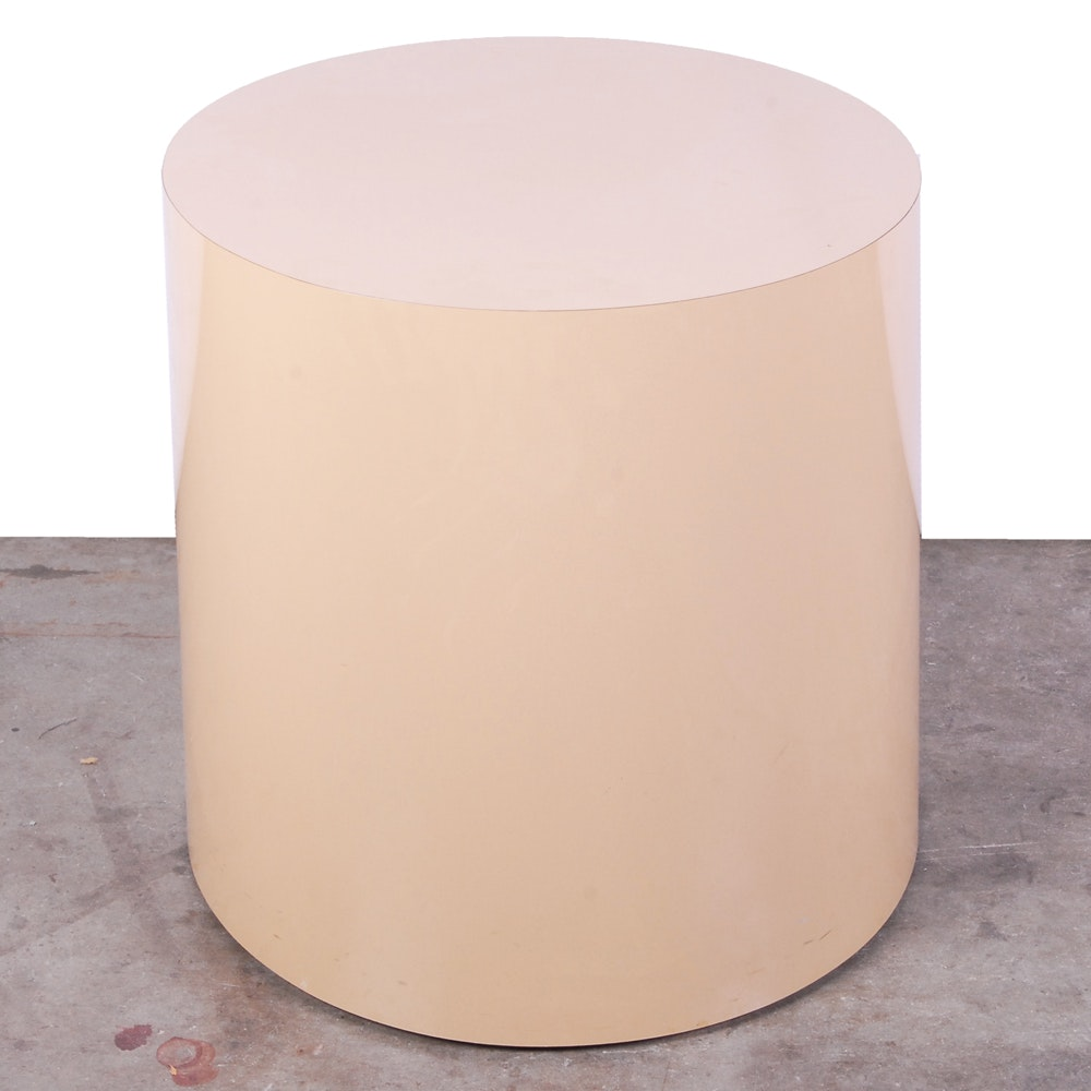 Modern Cylindrical Accent Table