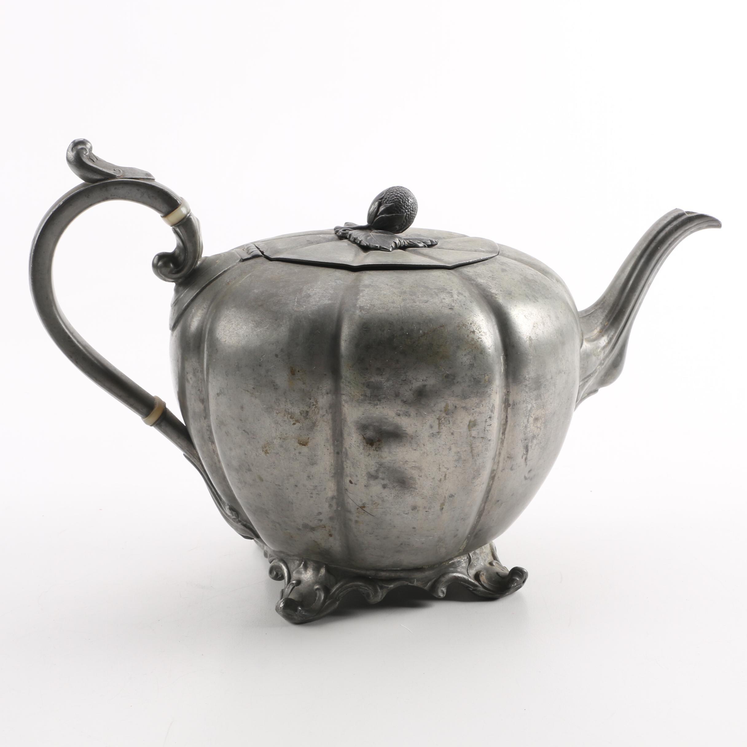 Antique James Dixon & Sons Britannia Metal Teapot