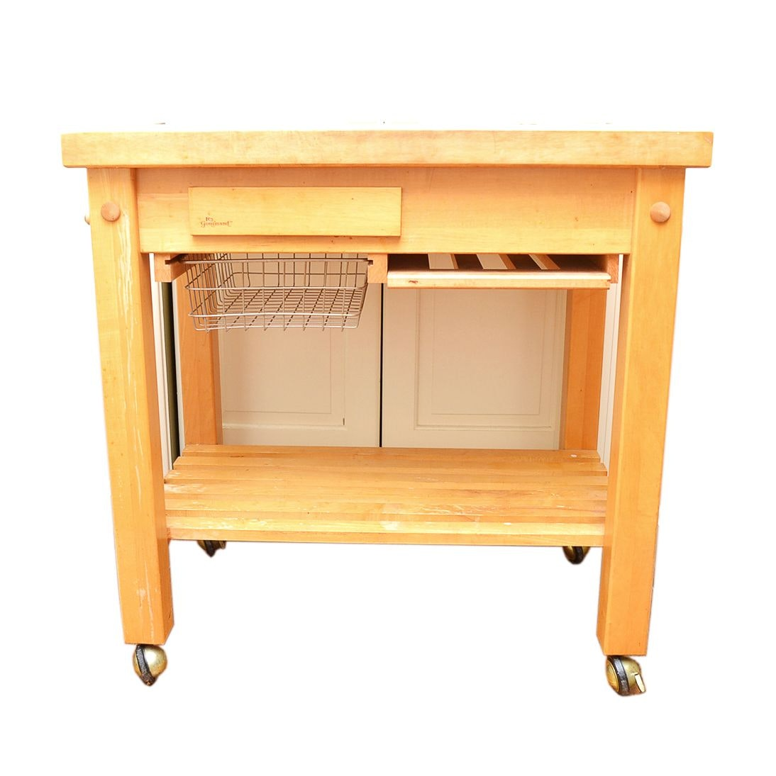 Maple Butcher Block Kitchen Island By Le Gourmand ...