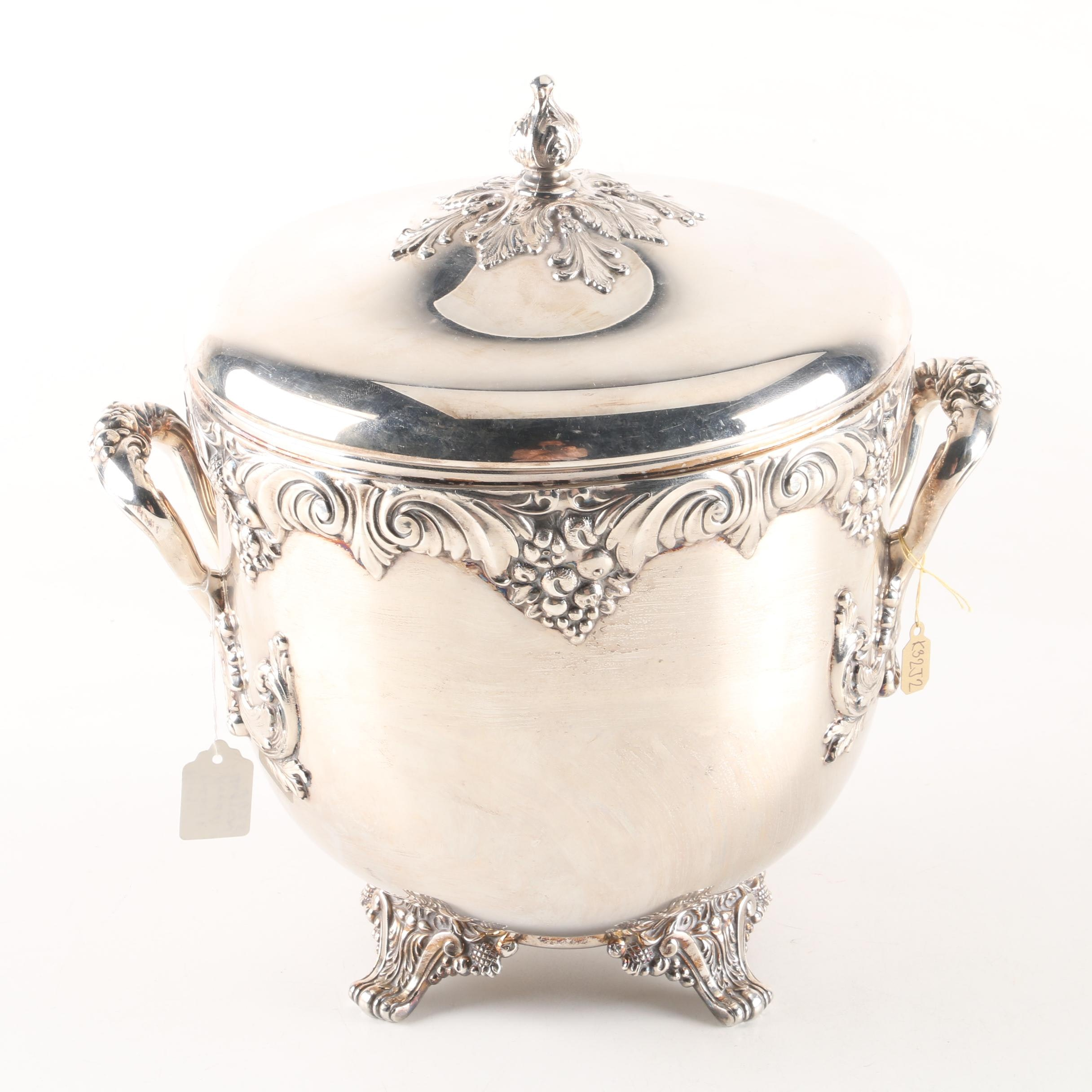 """Reed & Barton """"King Francis"""" Silver Plated Ice Bucket"""