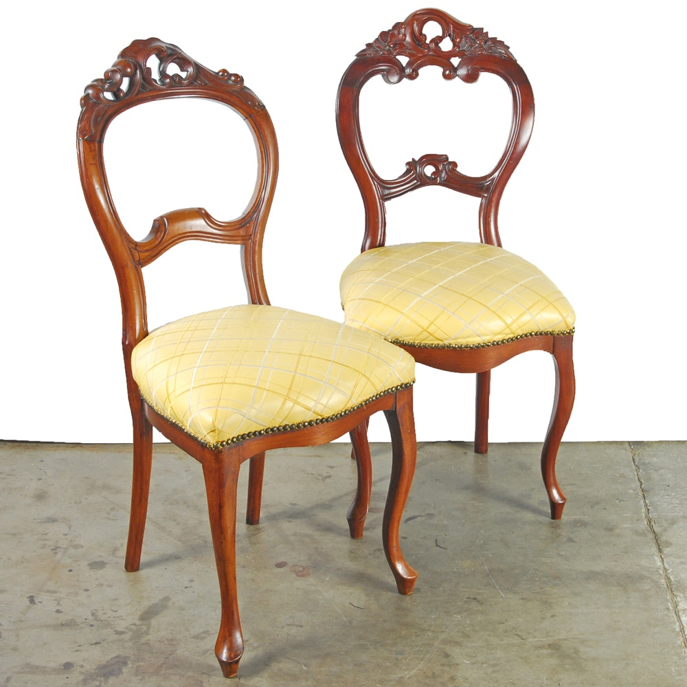 Vintage Victorian Style Side Chairs