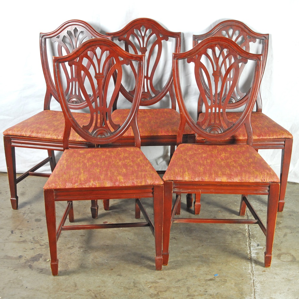 Vintage Hepplewhite Style Side Chairs by Bernhardt