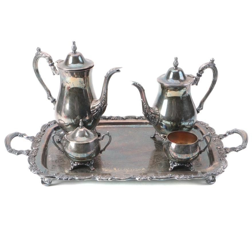 Oneida Silver Plate Tea and Coffee Service Set : EBTH