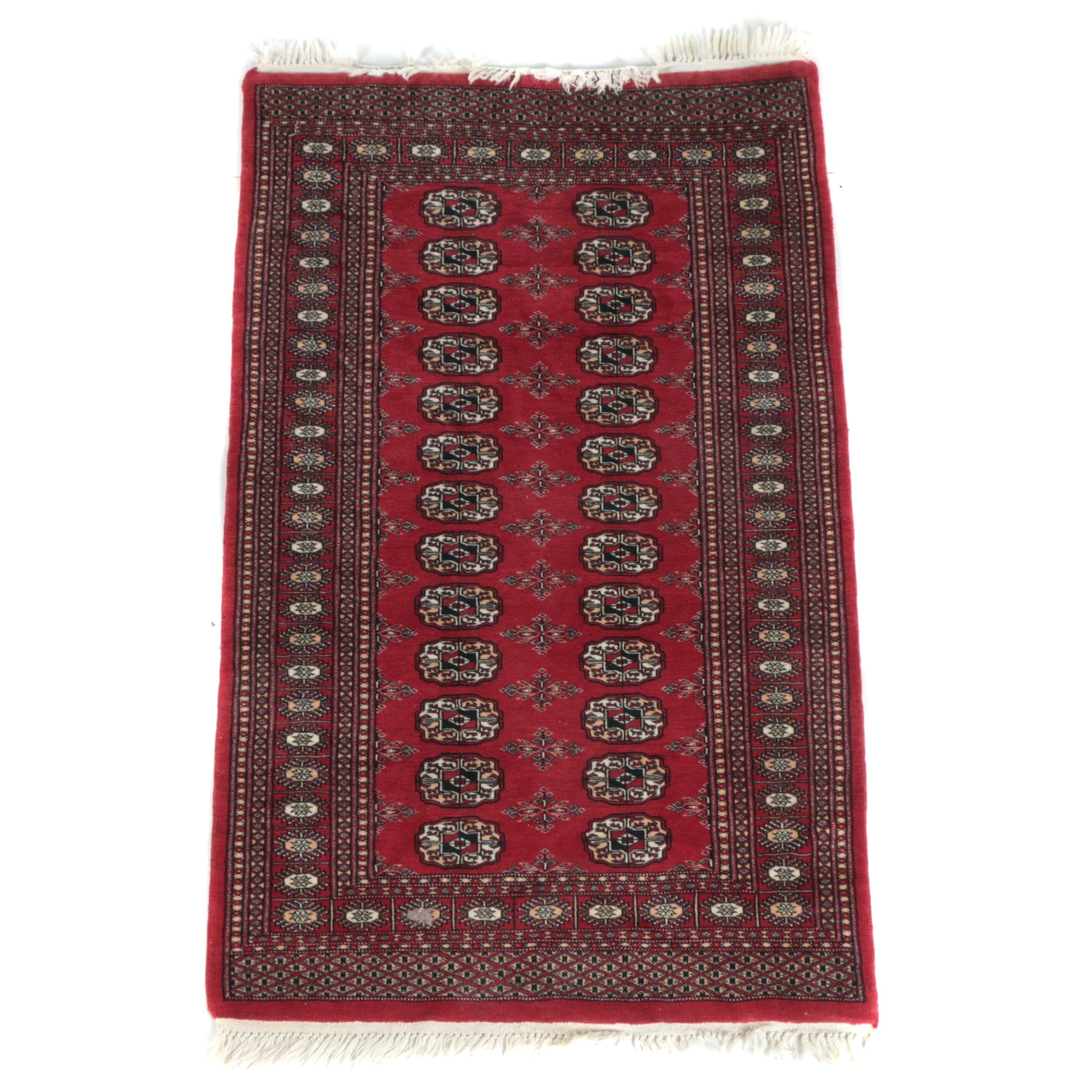 Hand-Knotted Afghani Bokhara Area Rug
