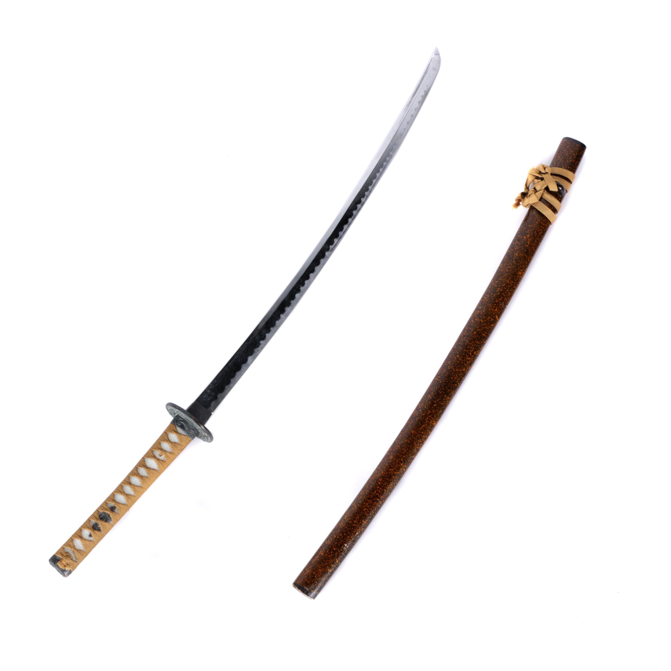 Contemporary Japanese Style Katana Sword with Wooden Scabbard