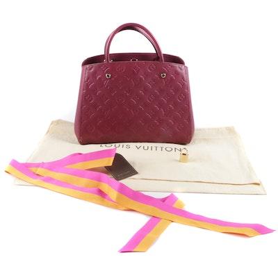 2196603417 Louis Vuitton Empreinte Montaigne MM Aurore Handbag