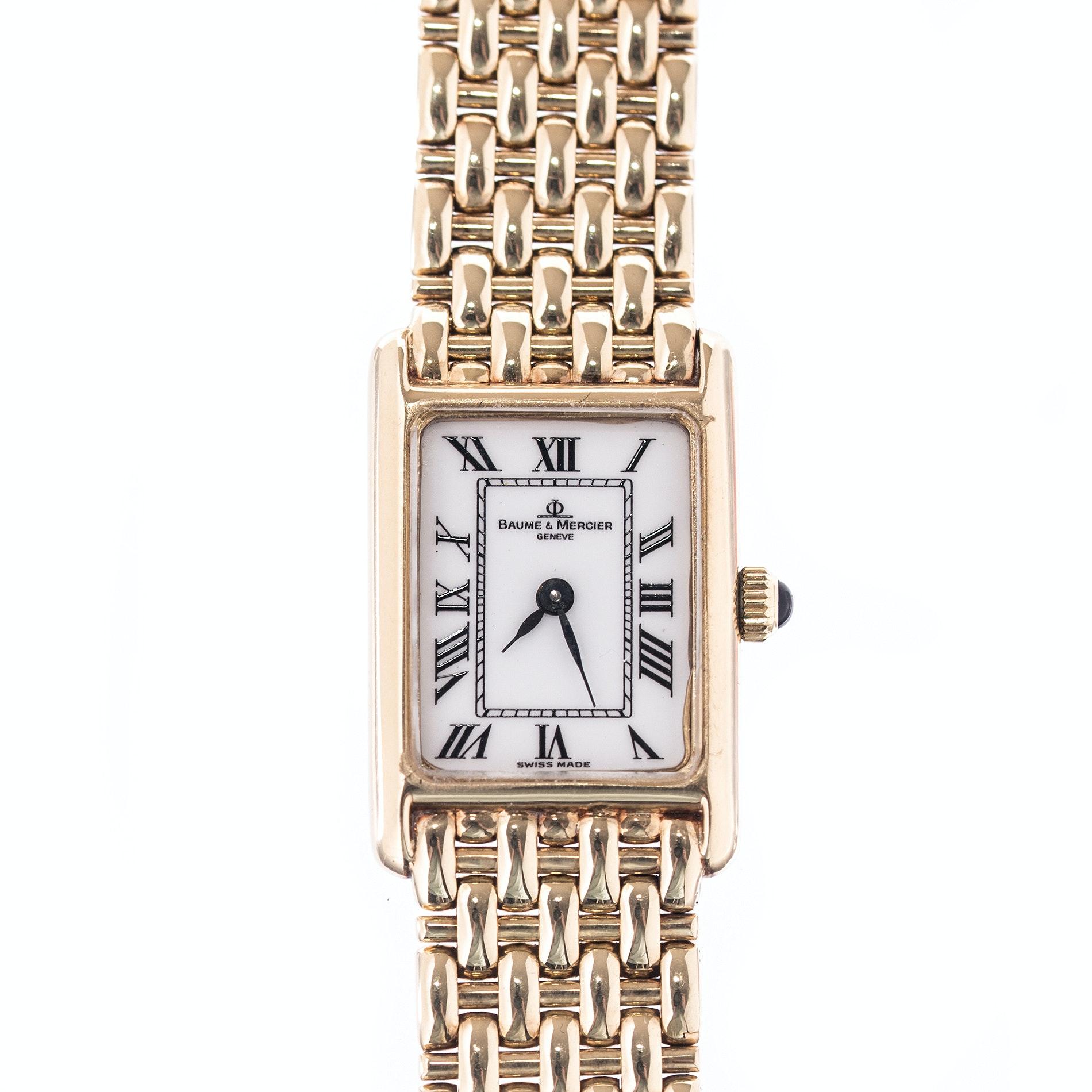 "Baume & Mercier ""Geneve"" 14K Yellow Gold Wristwatch"