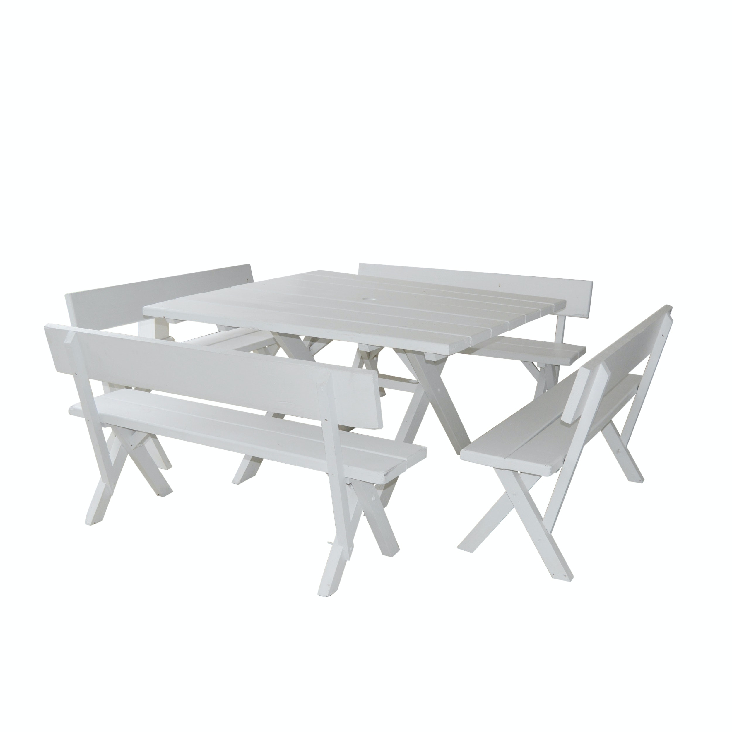 Painted Picnic Table and Bench Seats