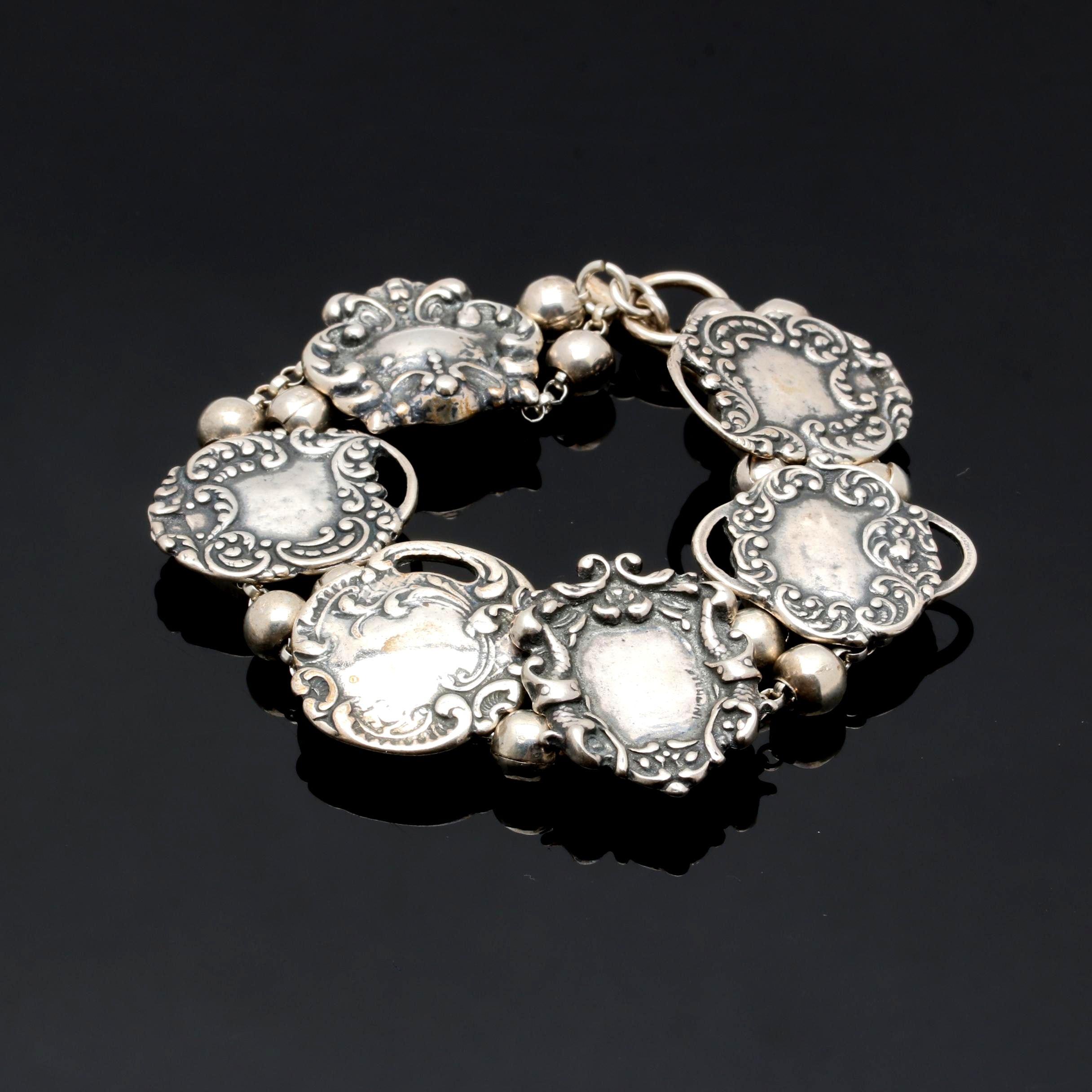 "T. Foree Hunsicker ""Medalias"" Sterling Silver  Bracelet"