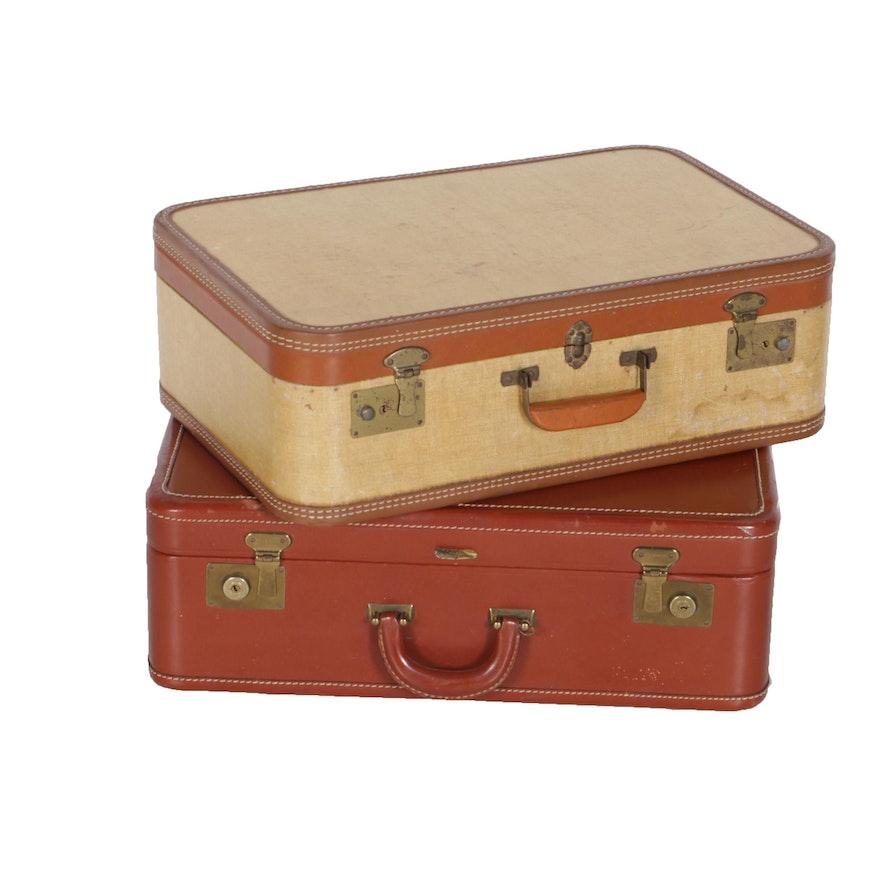 Vintage Luggage Suitcases Including JC Higgins
