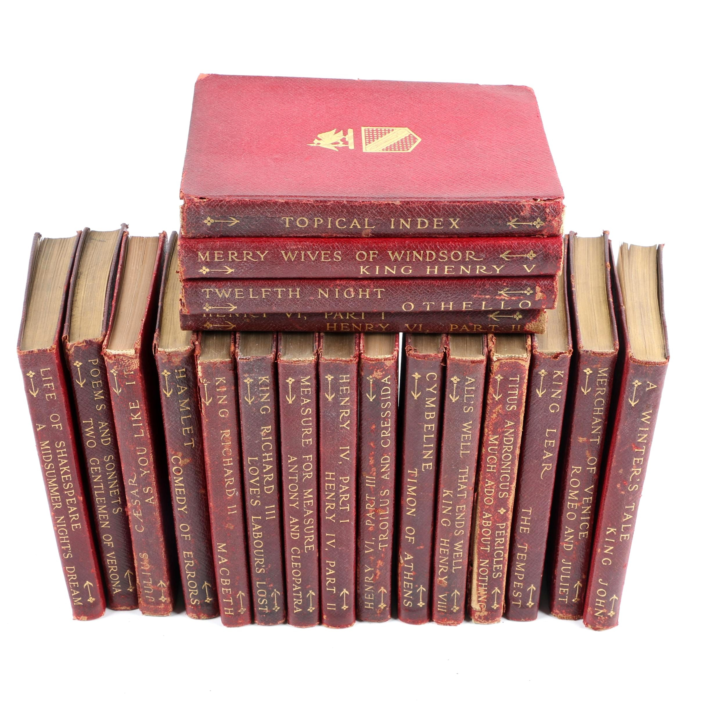 Antique Booklovers Edition of Shakespeare Nineteen-Volume Set