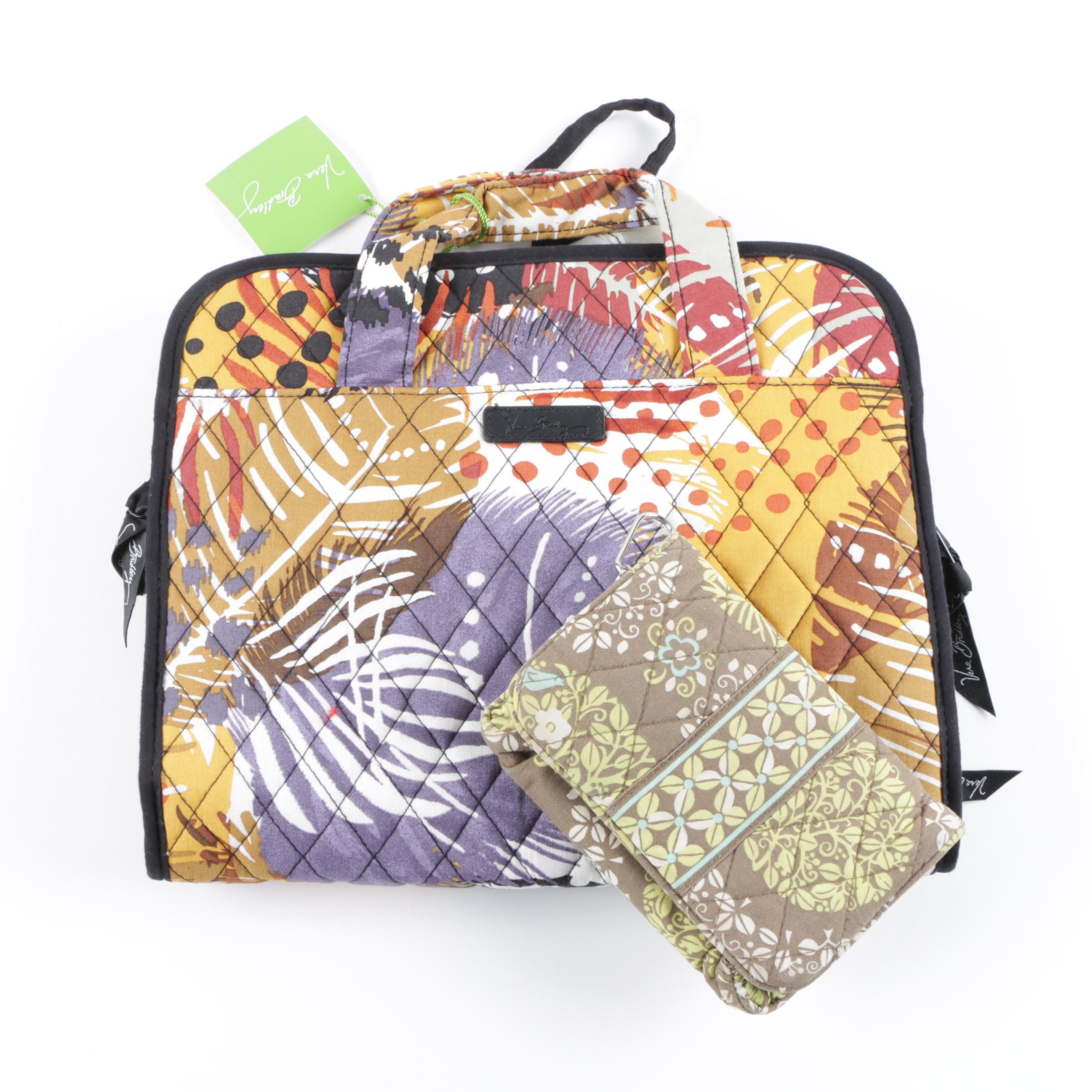 Vera Bradley Retired Patterns Hanging Cosmetic Organizer and Wallet
