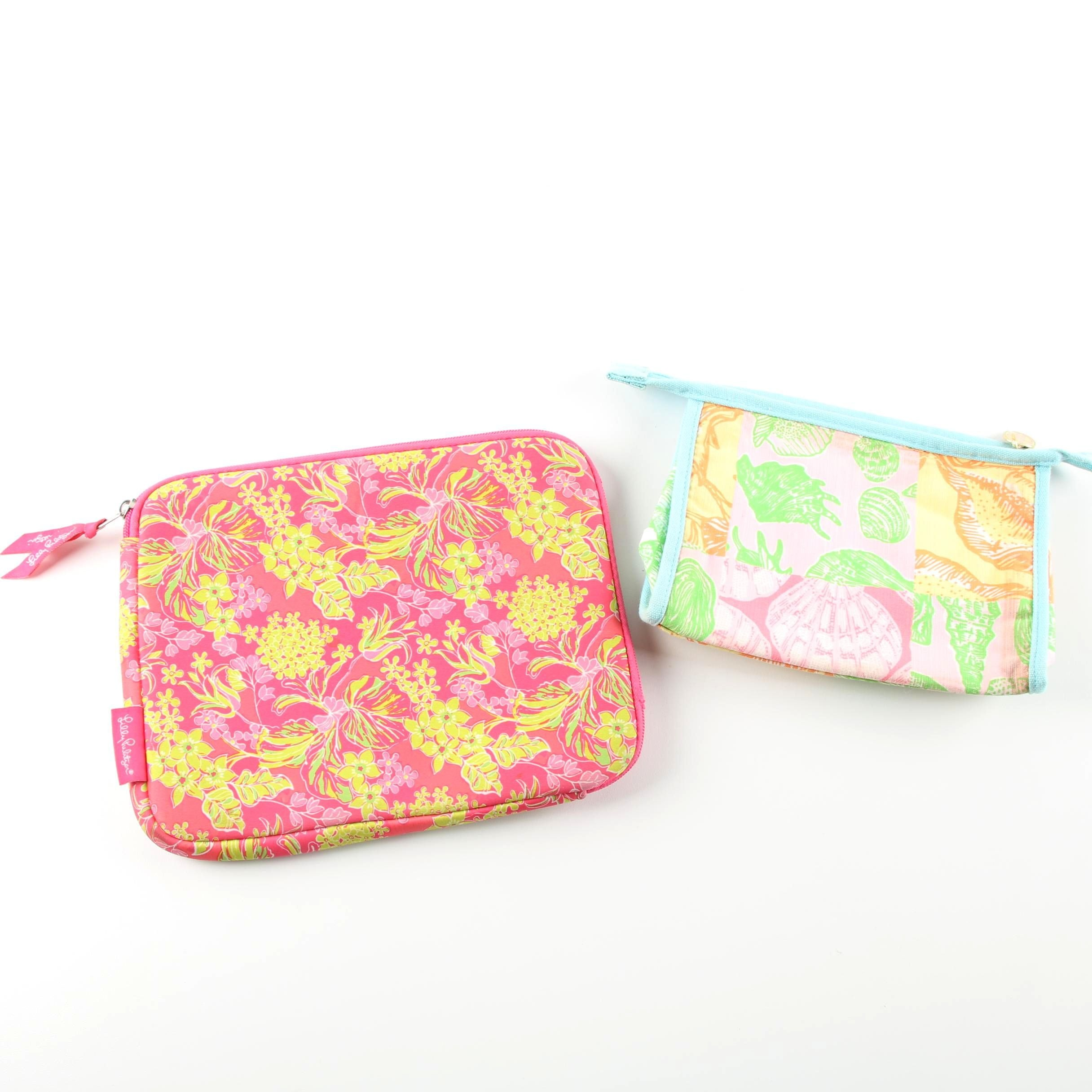 Lilly Pulitzer iPad Case and Cosmetic Bag