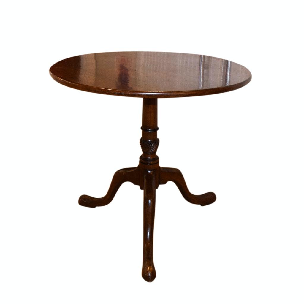 George III Style Mahogany Tilt Top Table