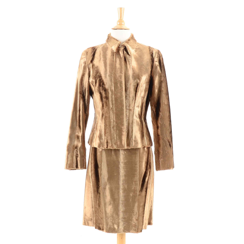 Women S Worth Gold Tone Velvet Dress Suit Ebth