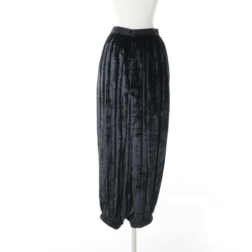 a745a847a72 Vintage Yves Saint Laurent Rive Gauche of Paris Black Velvet Harem Pants :  EBTH