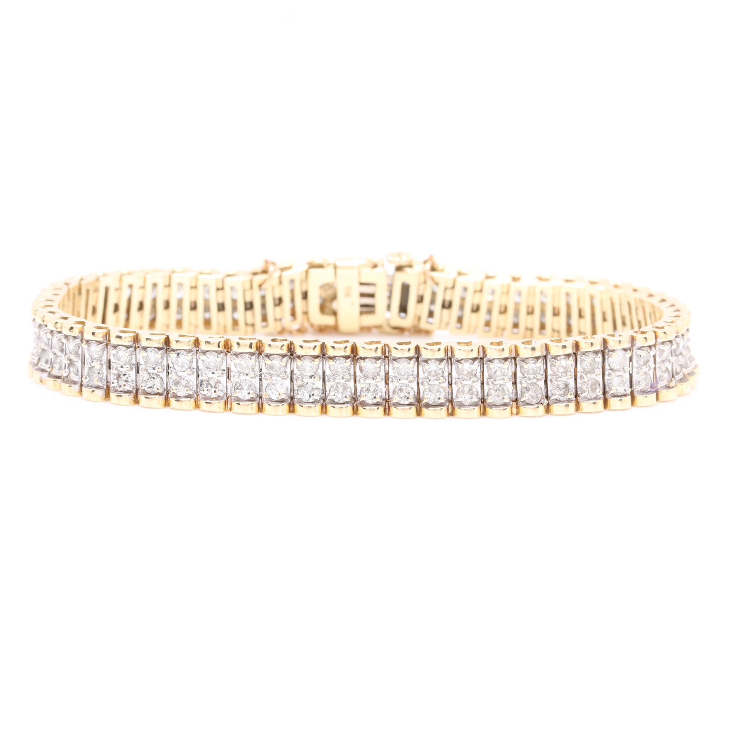 14K Yellow Gold 5.04 CTW Diamond Bracelet