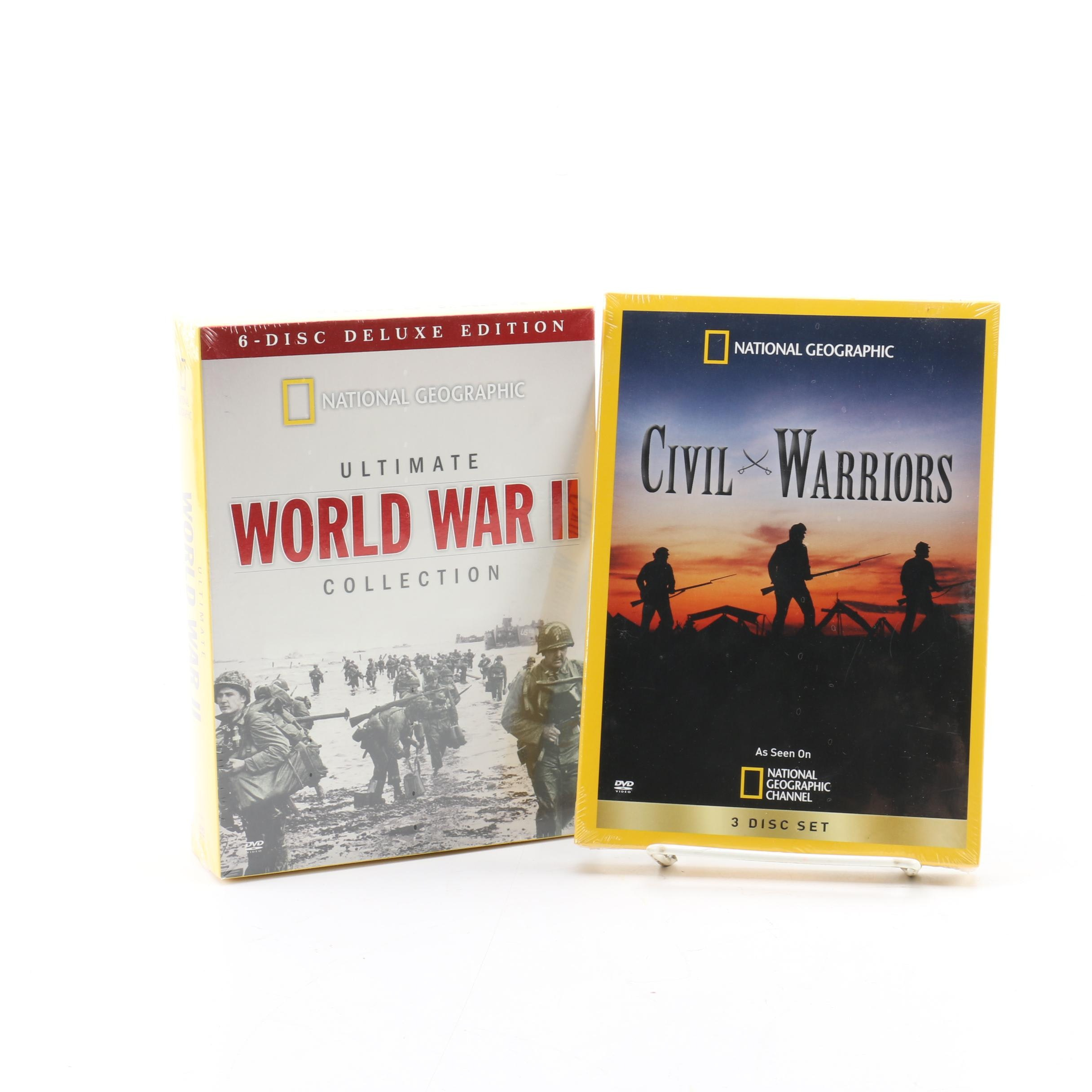 "National Geographic ""Civil Warriors"" and ""World War II"" DVD Sets"