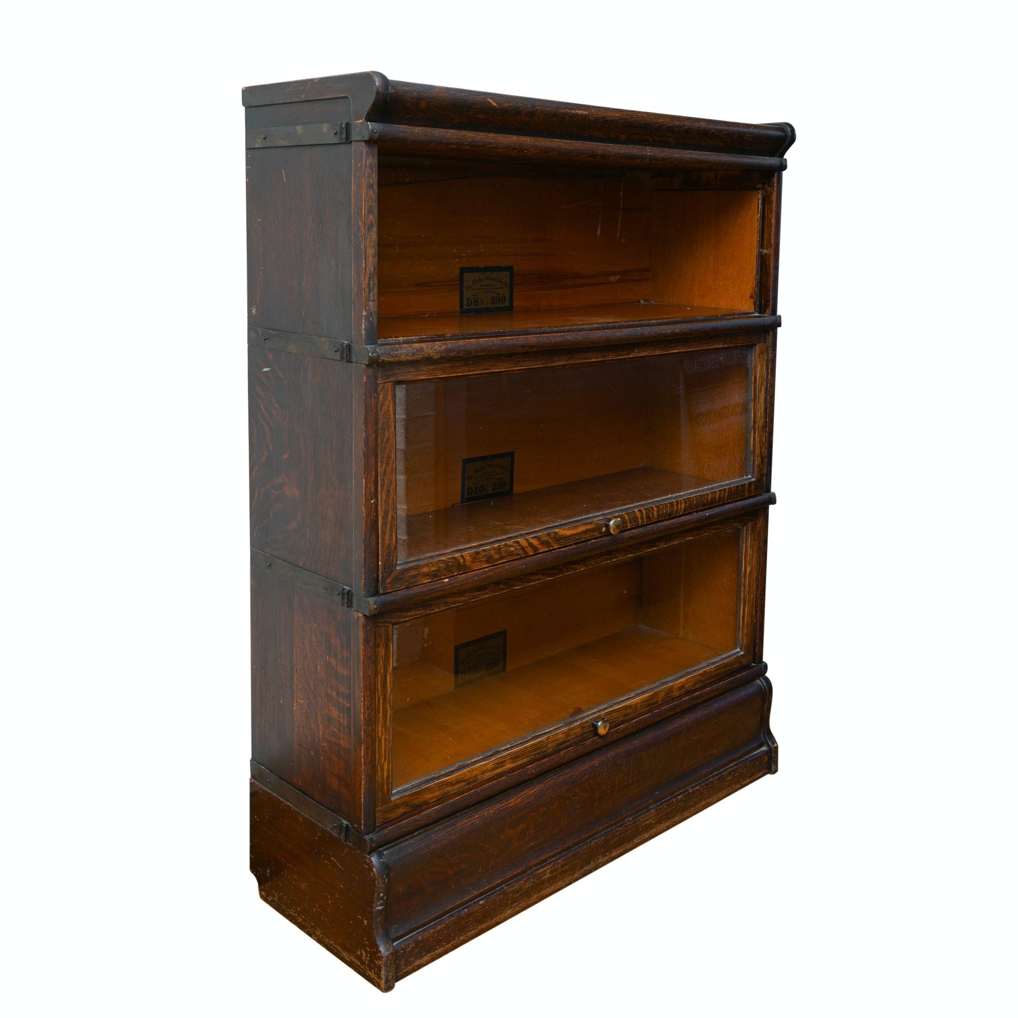 Vintage Oak Barrister Bookcase by Globe-Wernicke