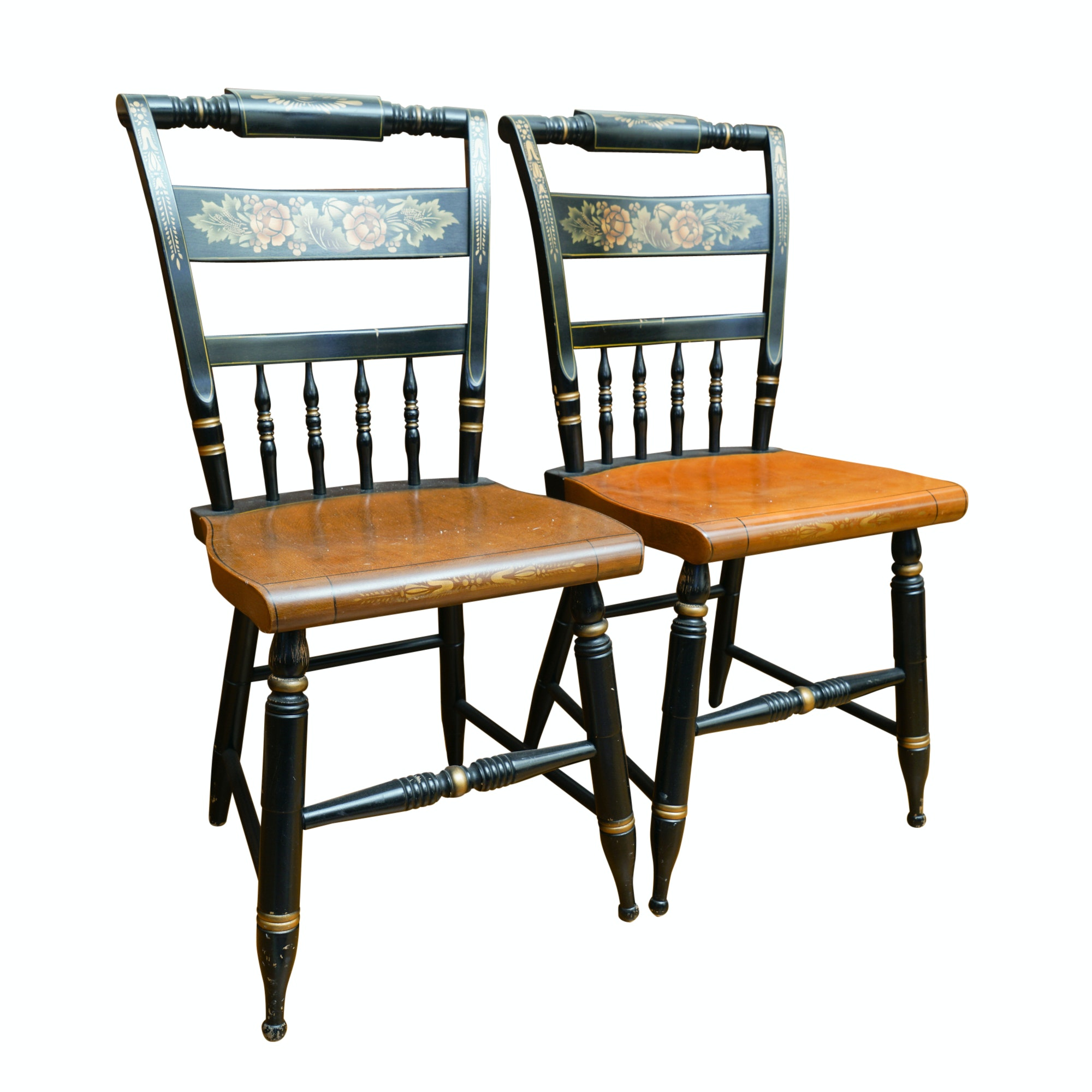 Vintage Hitchcock Painted Side Chairs
