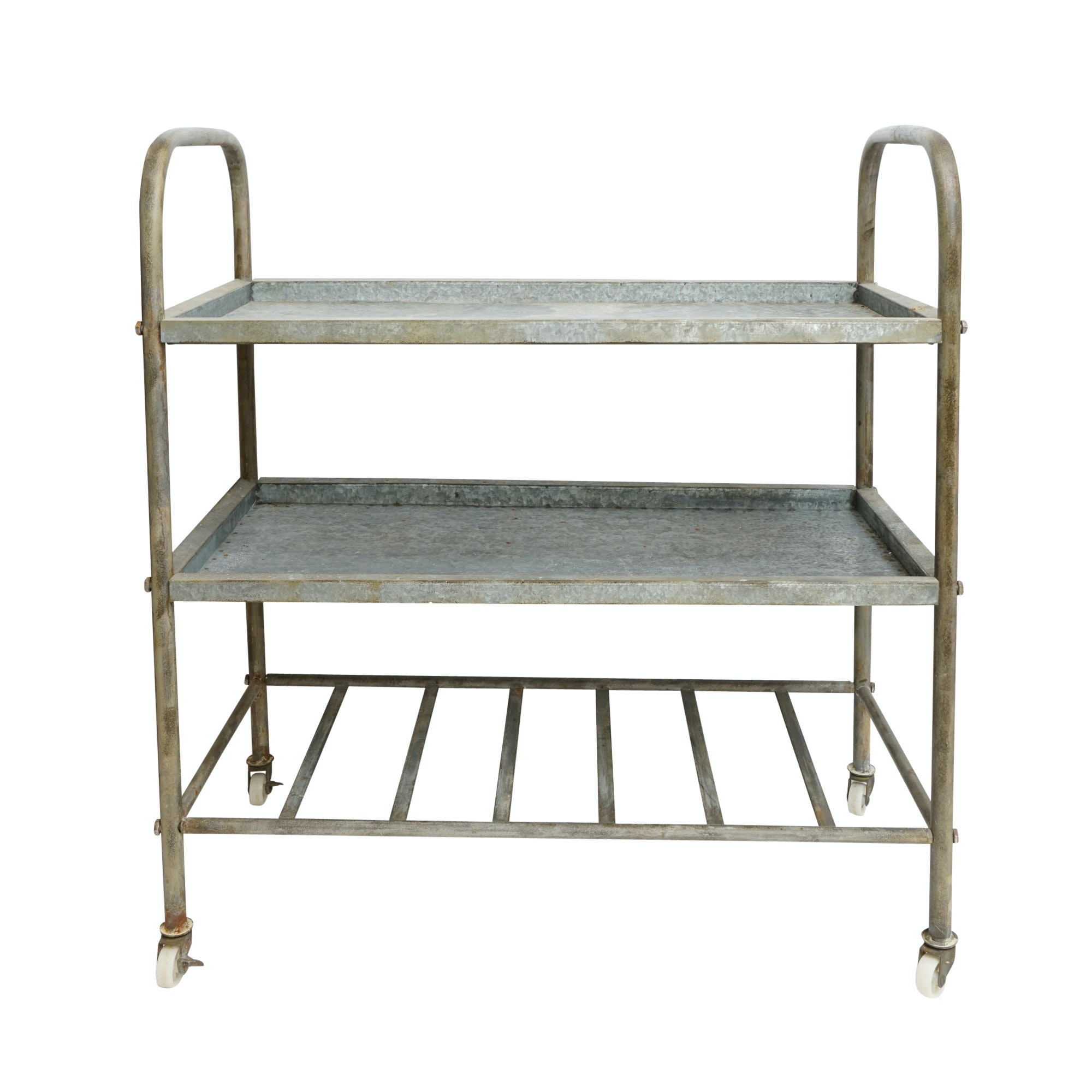 Industrial Style Galvanized Metal Cart