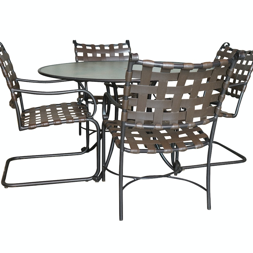 Brown Jordan Patio Furniture Set Ebth