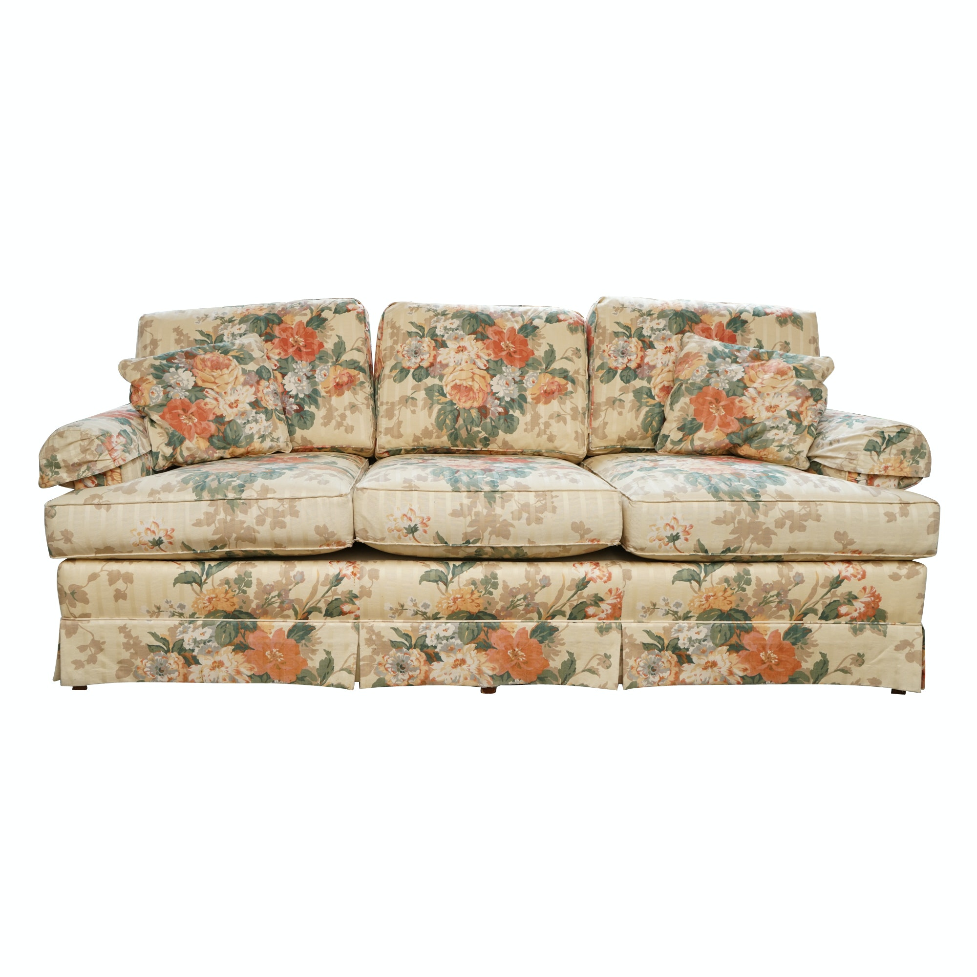 Floral Upholstered Sofa by Grand Rapids Furniture Company