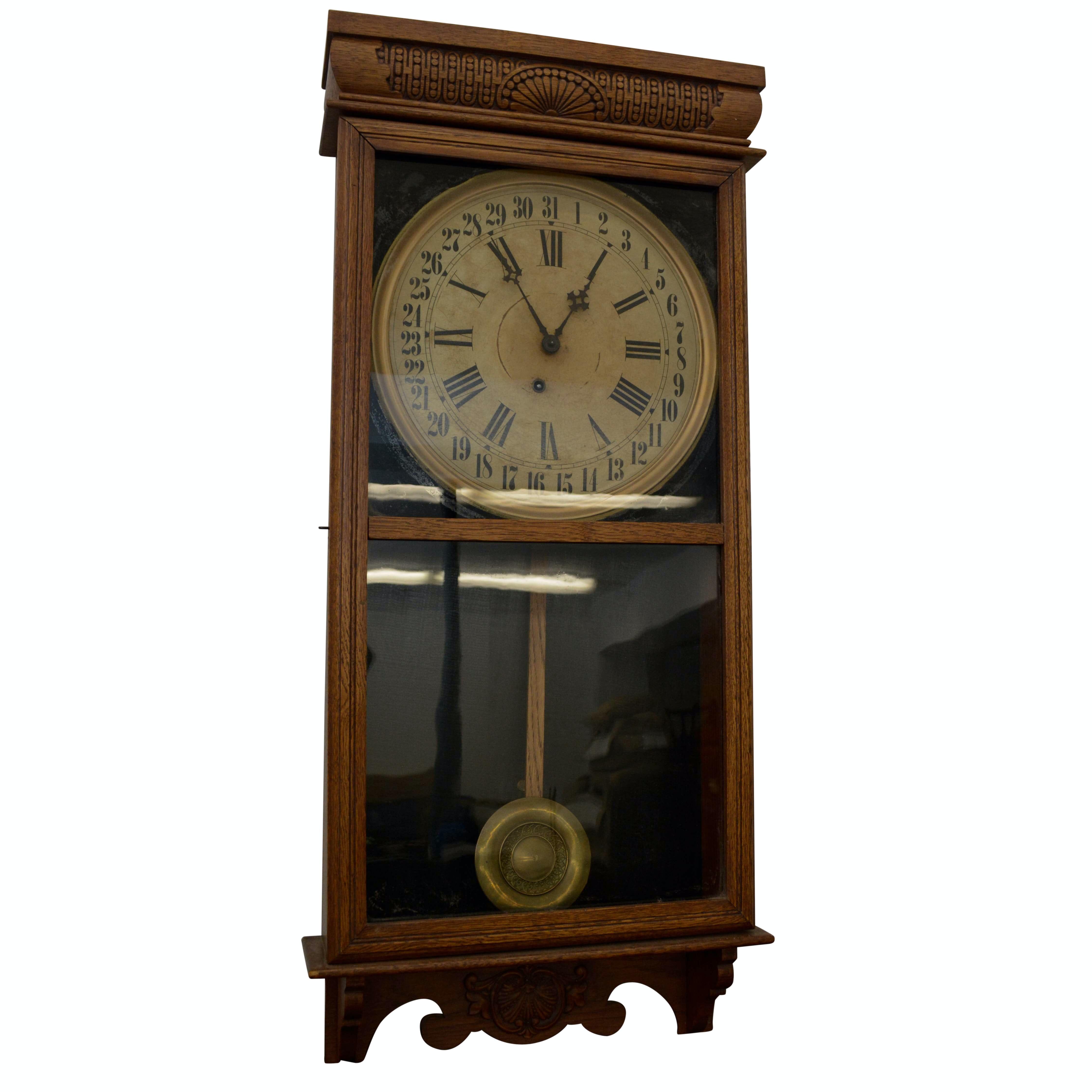 "Early 20th Century E. Ingraham ""Western Union"" Wall Clock"