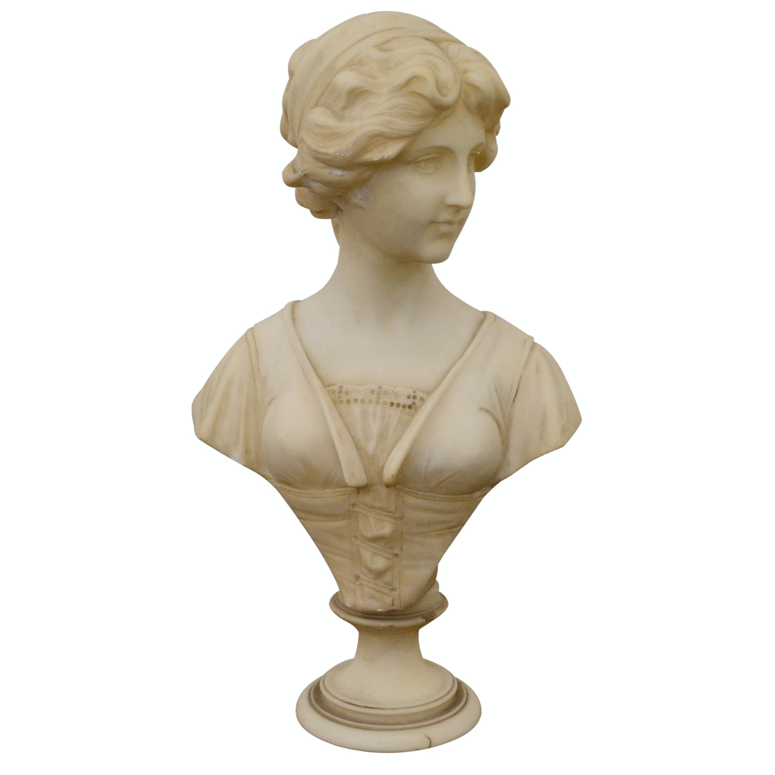 Alabaster Bust of a Woman