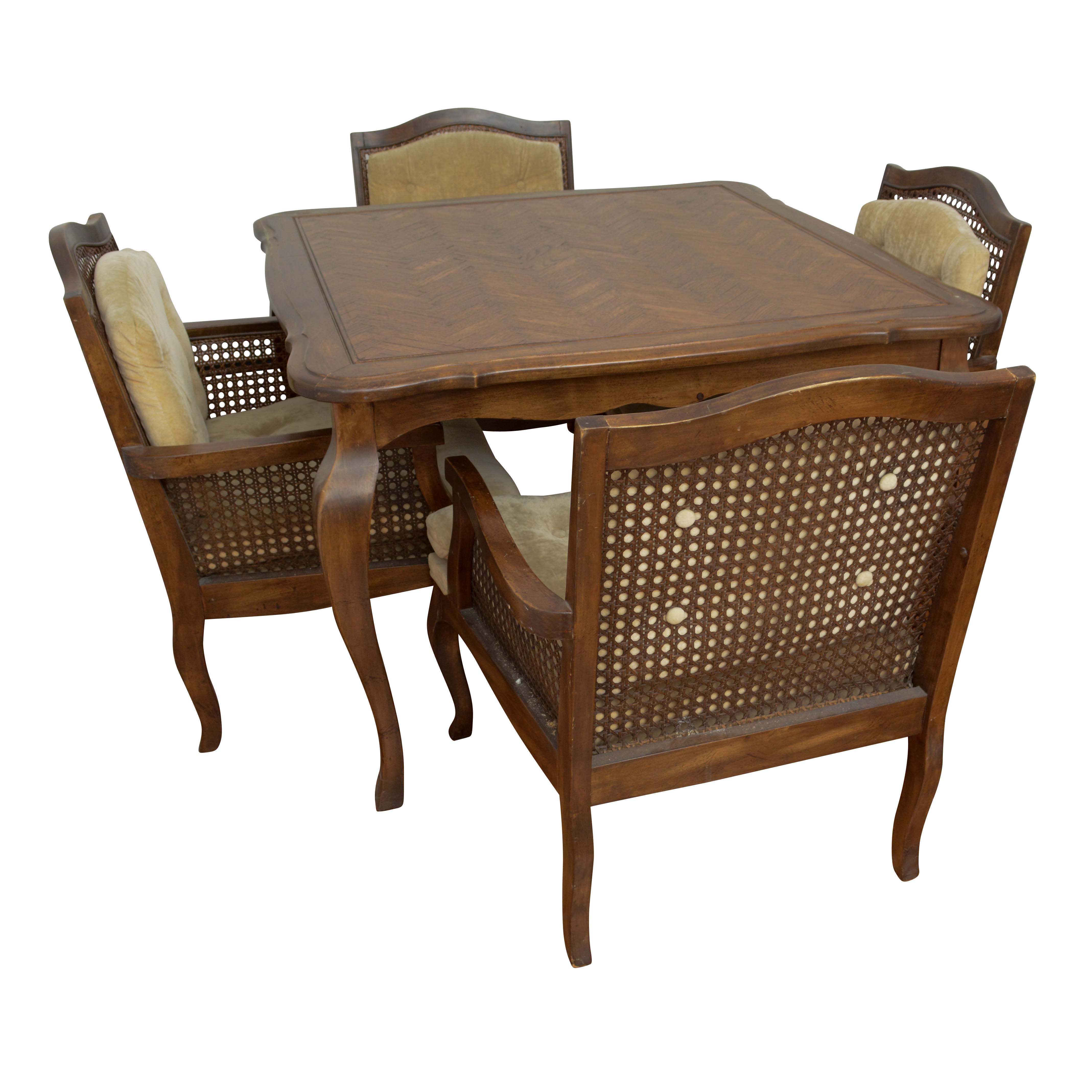 Mid-Century Oak Dining Table and Armchairs