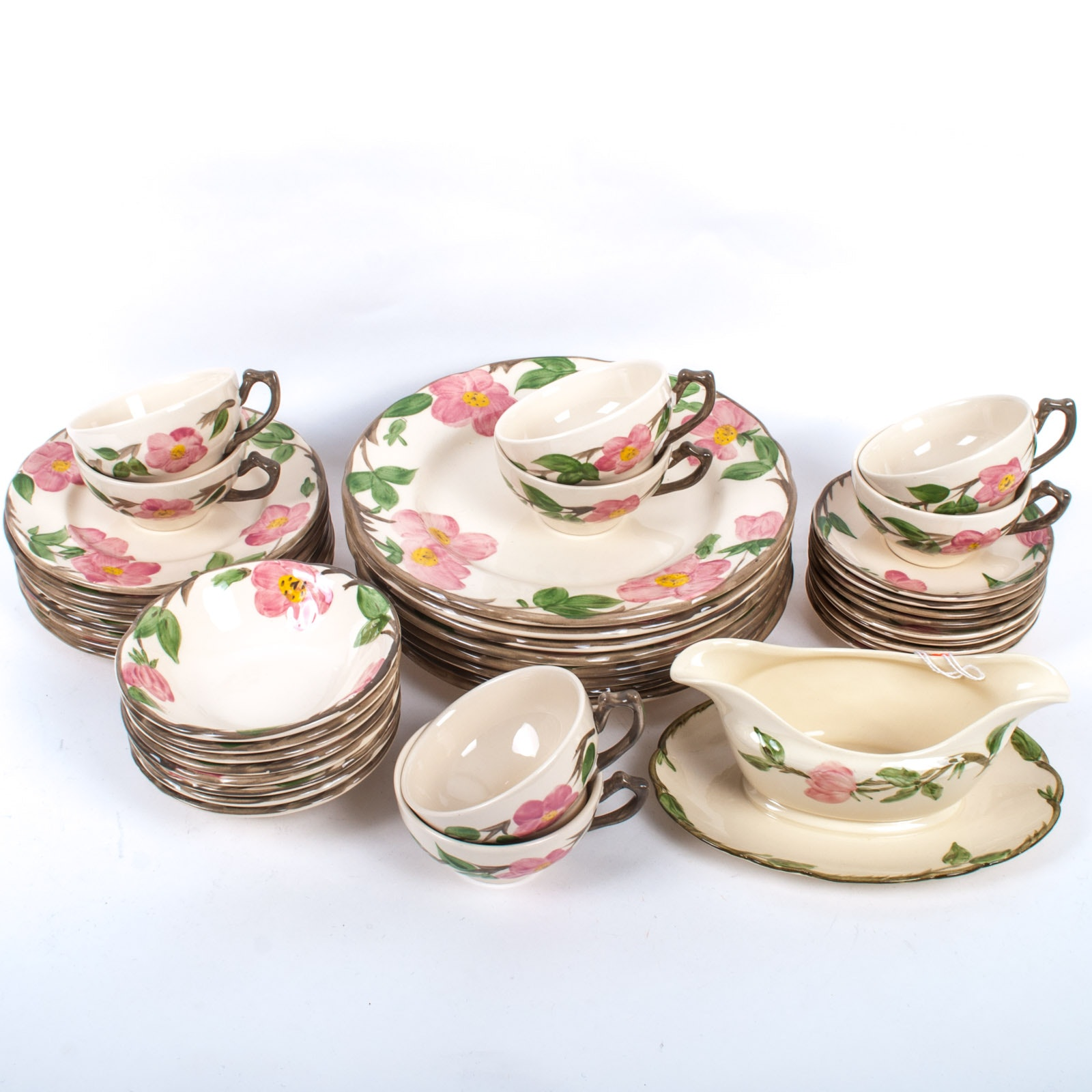 Hand Painted \ Desert Rose\  Franciscan Dinnerware ...  sc 1 st  EBTH.com & Hand Painted \