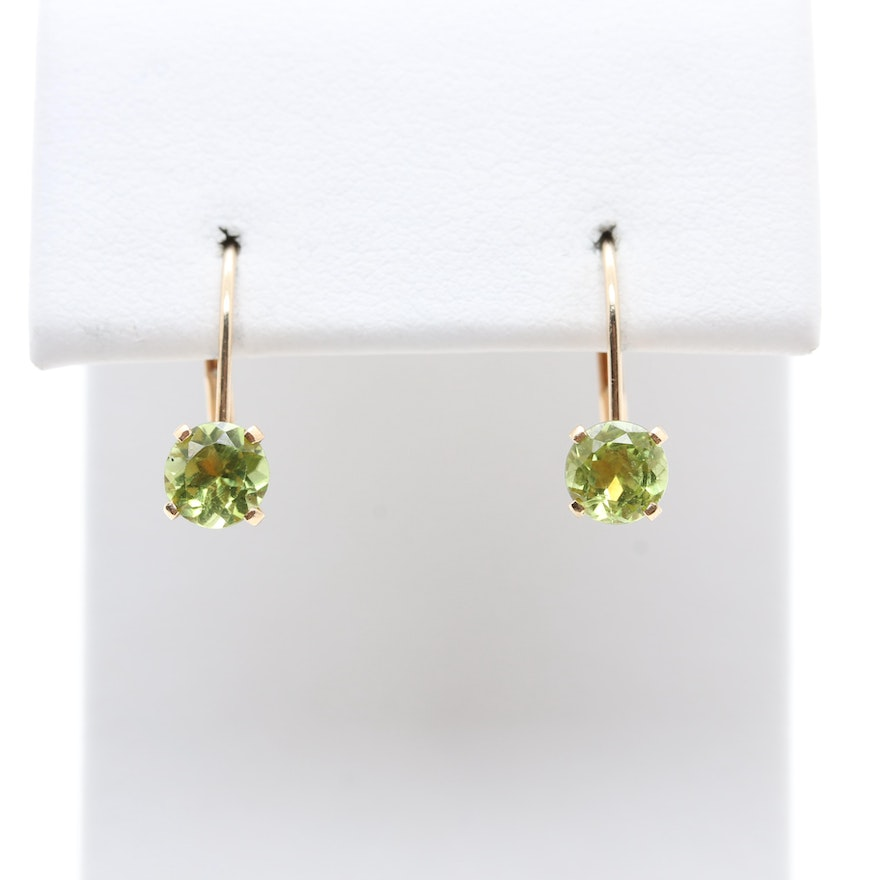 cartier dona gold white la earrings peridot