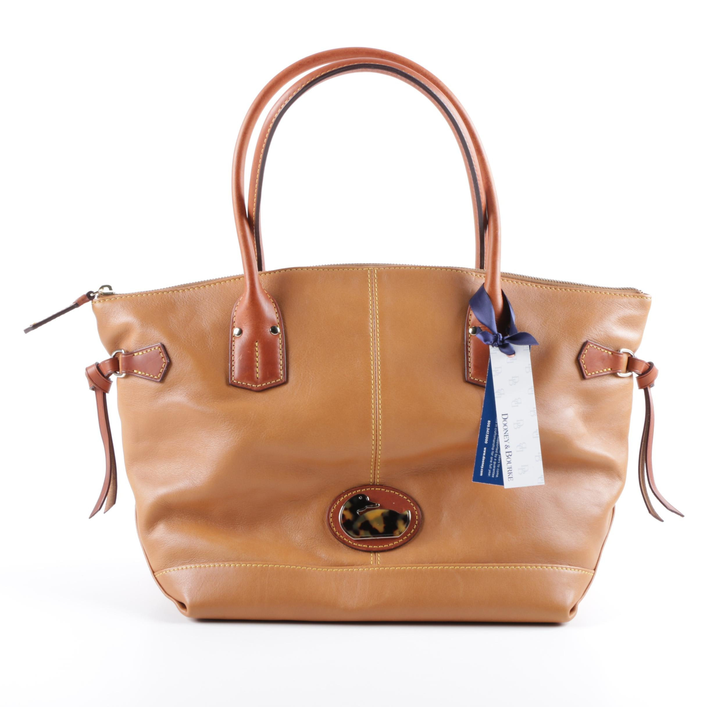 Dooney & Bourke Tan Leather Satchel