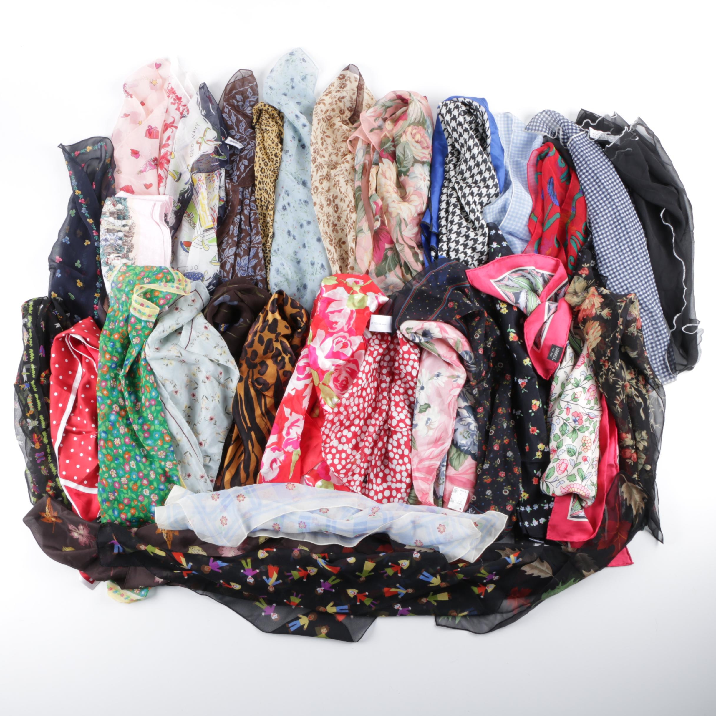 Group of Scarves Including Echo and Laura Ashley