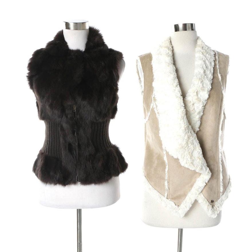 9eafbf8454 Women's Patrizia Luca Rabbit Fur Vest and Guess Faux Fur Vest : EBTH