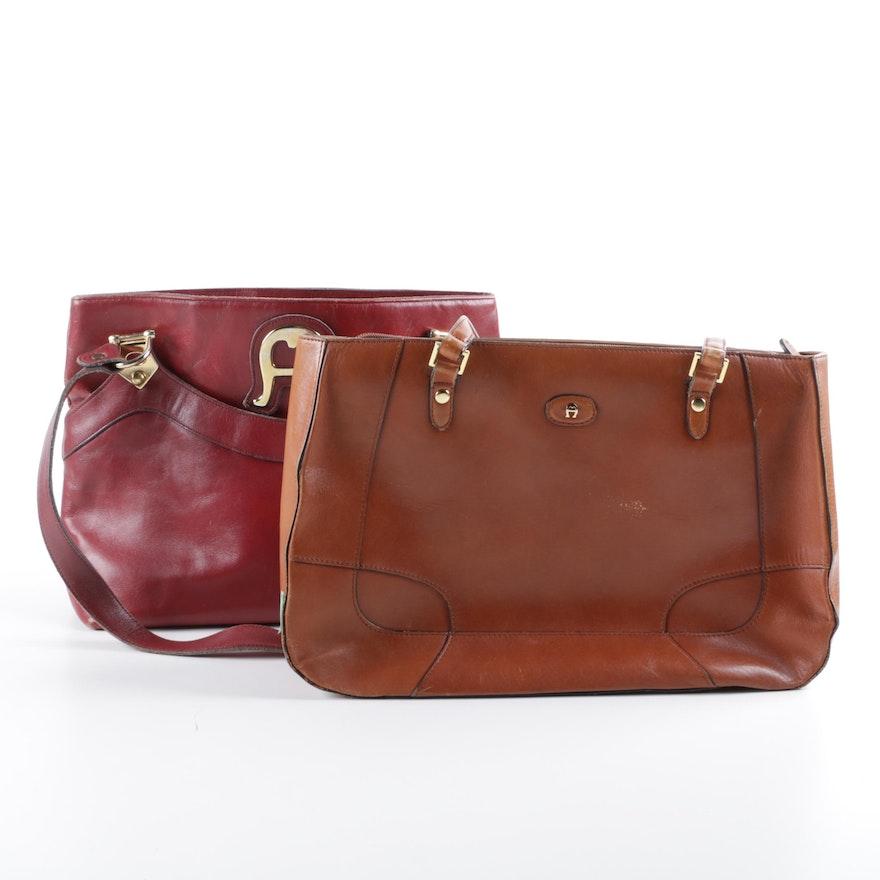 0daee8be592 Vintage Etienne Aigner Leather Shoulder Bags : EBTH