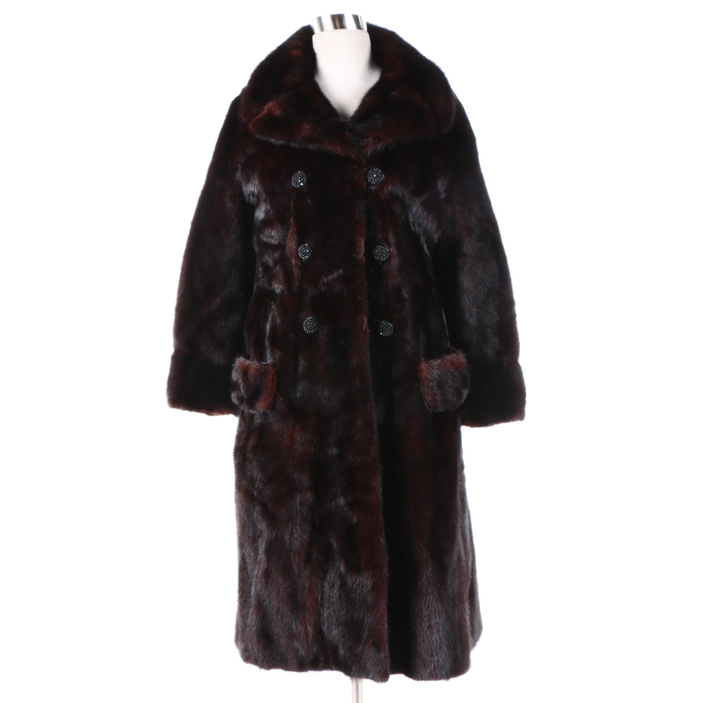 Women's Vintage Furs by Carleton's Mink Fur Double-Breasted Coat