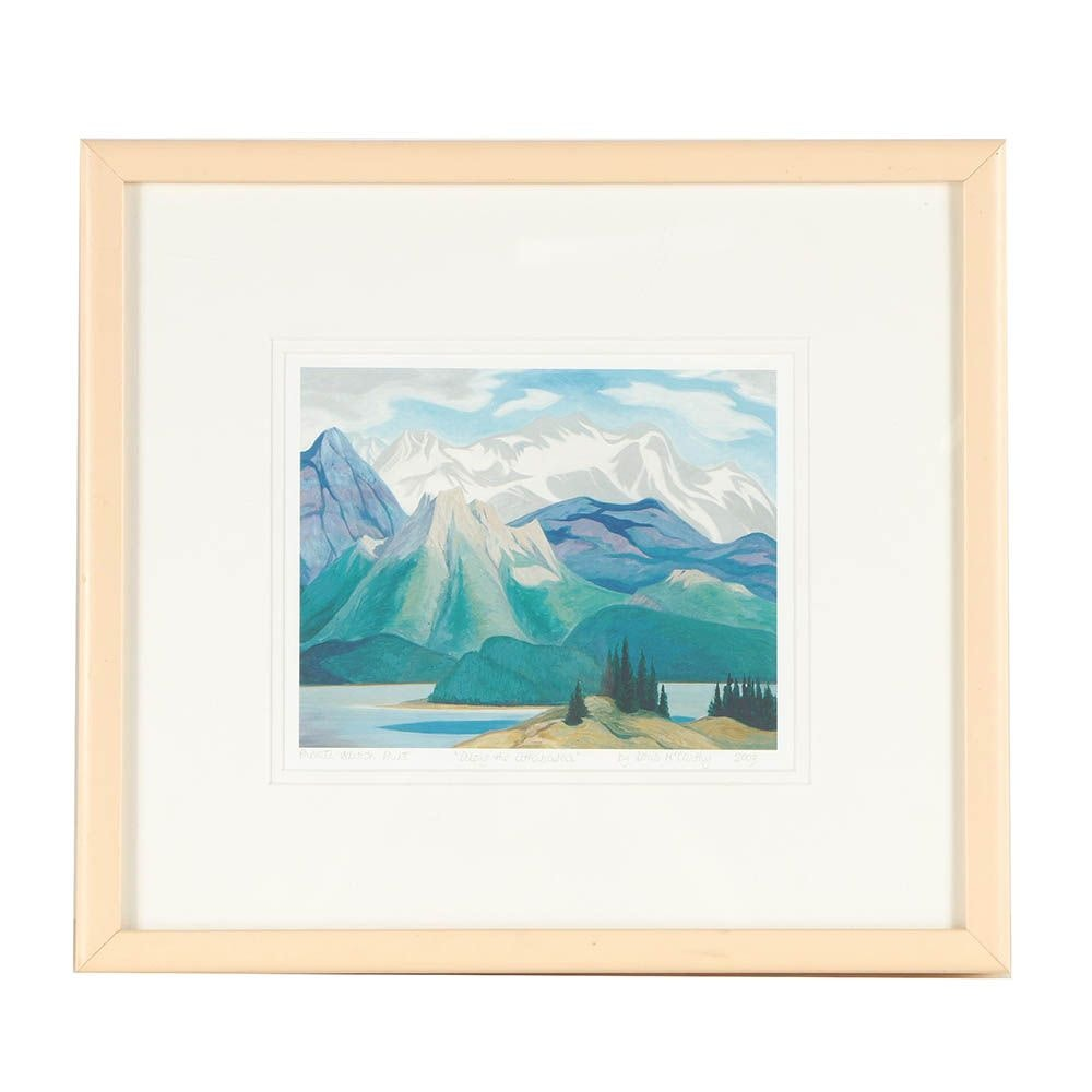 "Doris Jean McCarthy 2003 Private Edition Giclée ""Along the Athabasca"""