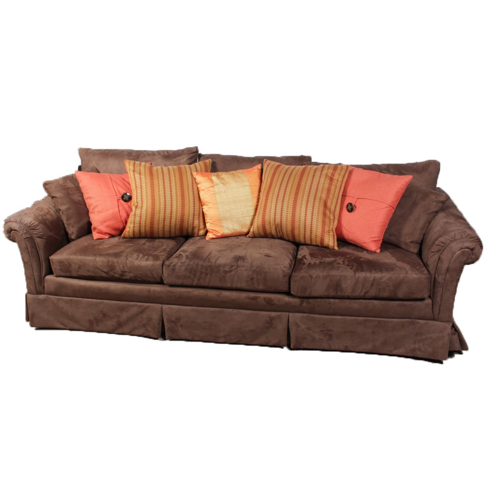 Bon Ultra Suede Upholstered Contemporary Sofa ...
